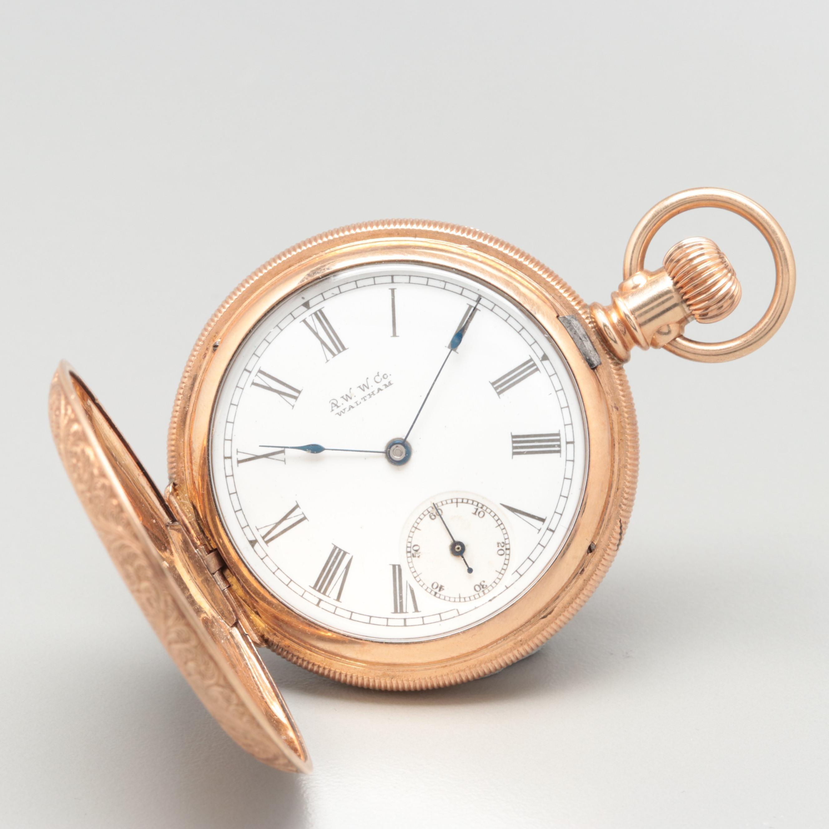 Waltham Gold Filled Hunting Case Pocket Watch, Circa 1891