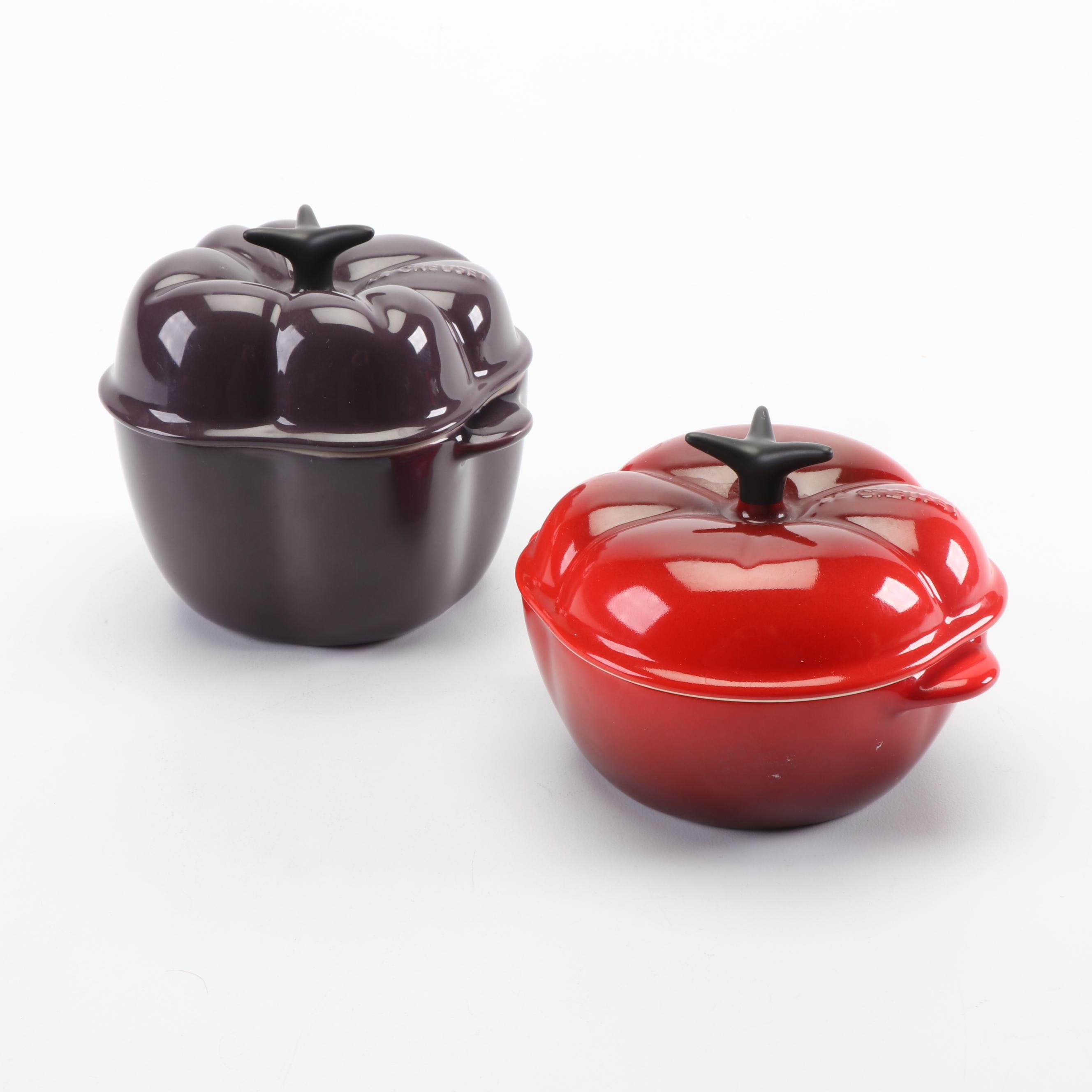 Le Creuset Bell Pepper and Tomato Stoneware Cocottes
