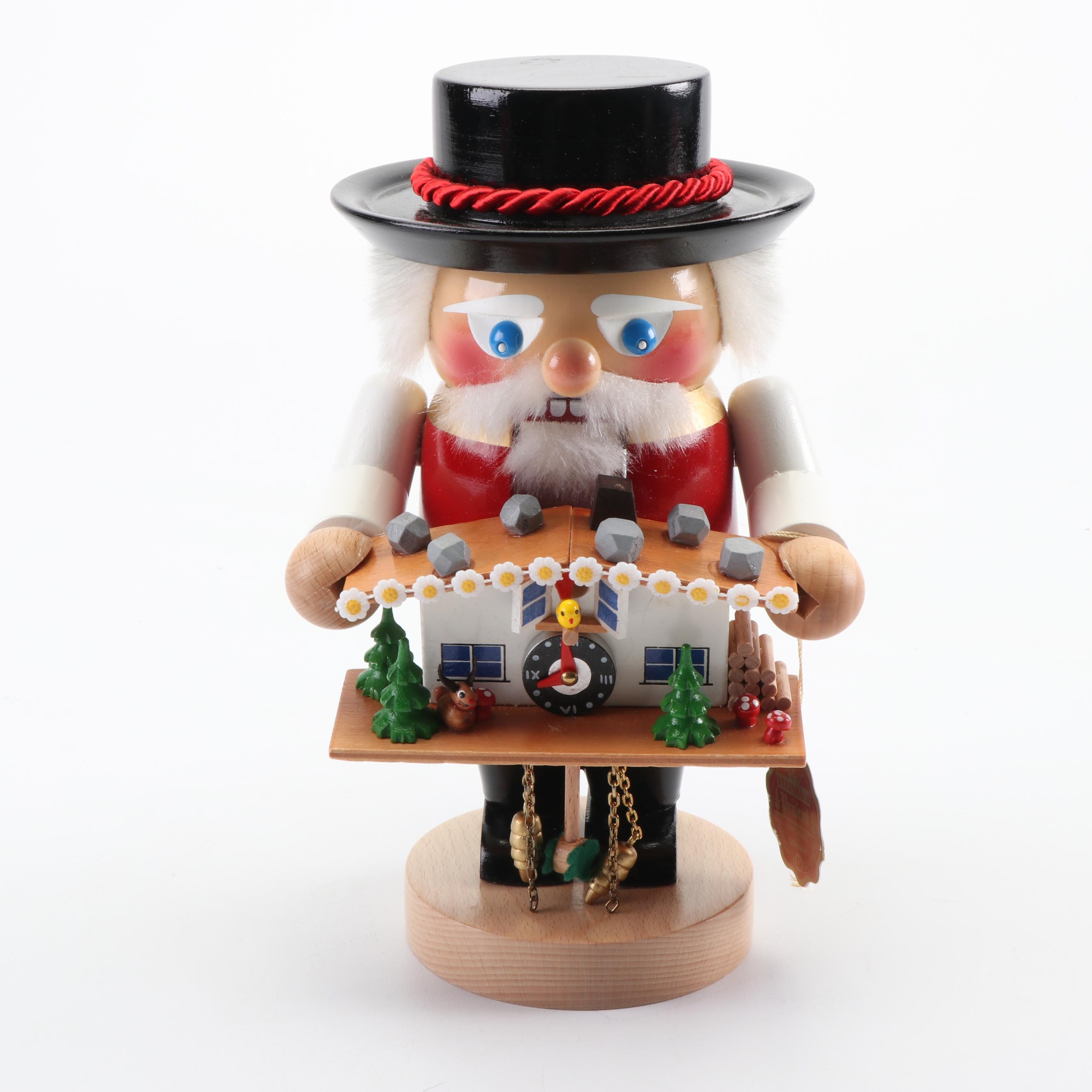 "Steinbach German ""Black Forester with Cuckoo Clock"" Nutcracker"