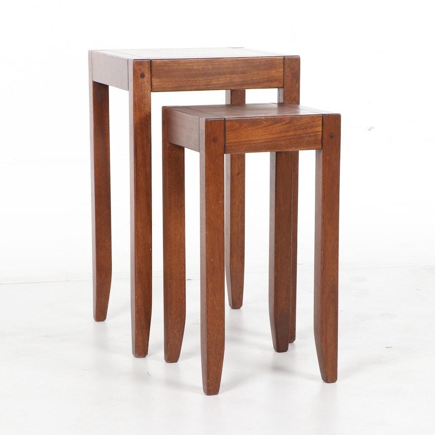Hardwood Nesting Tables By Pottery Barn 21st Century