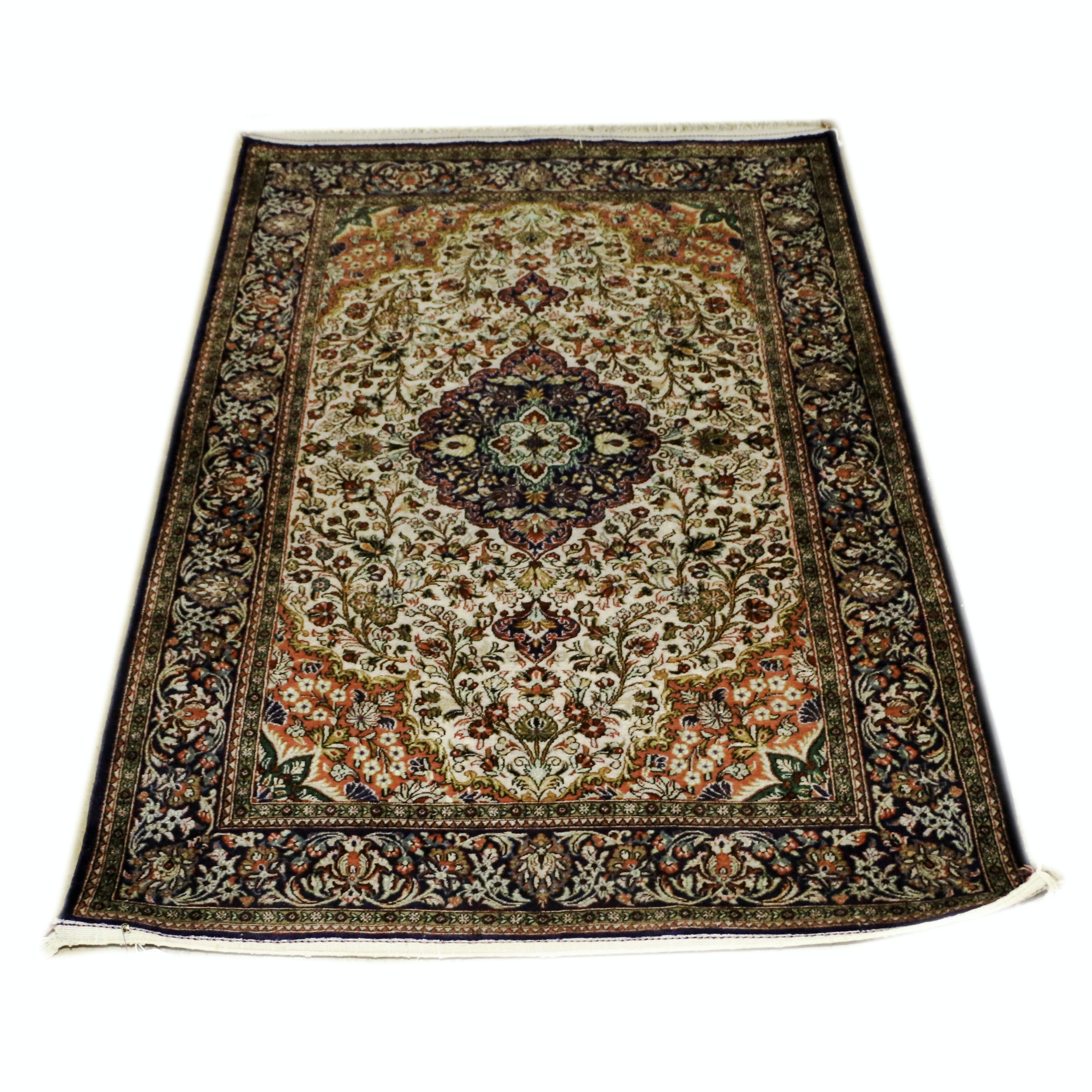 Hand-Knotted Sino-Persian Silk Rug