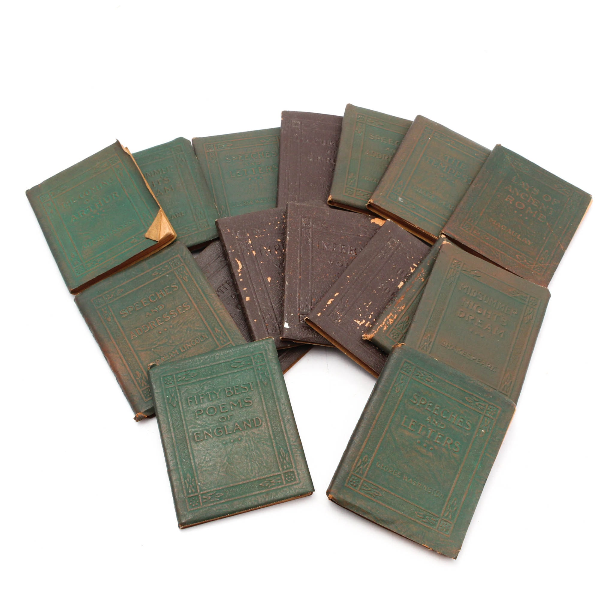 "1920s ""Little Leather Library"" Mini Classic Books"