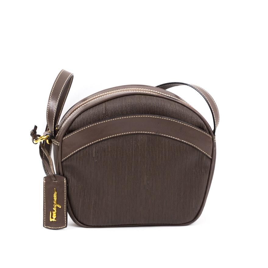 Vintage Salvatore Ferragamo Leather Shoulder Bag   EBTH bb97af58199be