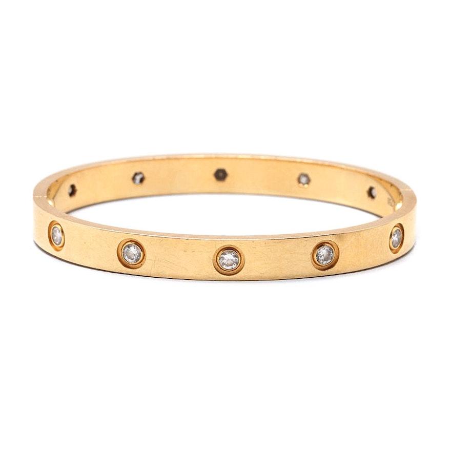 9cbac1561cb Cartier 18K Yellow Gold 1.00 CTW Diamond Love Bracelet   EBTH
