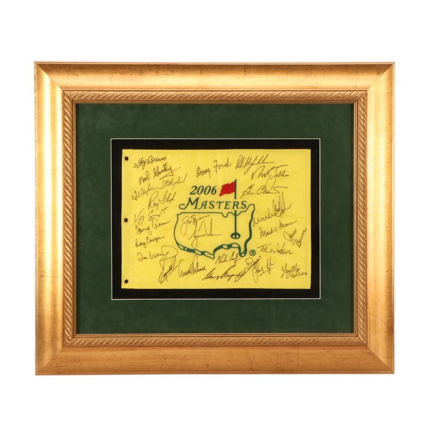 4e5b4721fc6 2006 Masters Signed Pin Flag with Tiger Woods Signature   EBTH