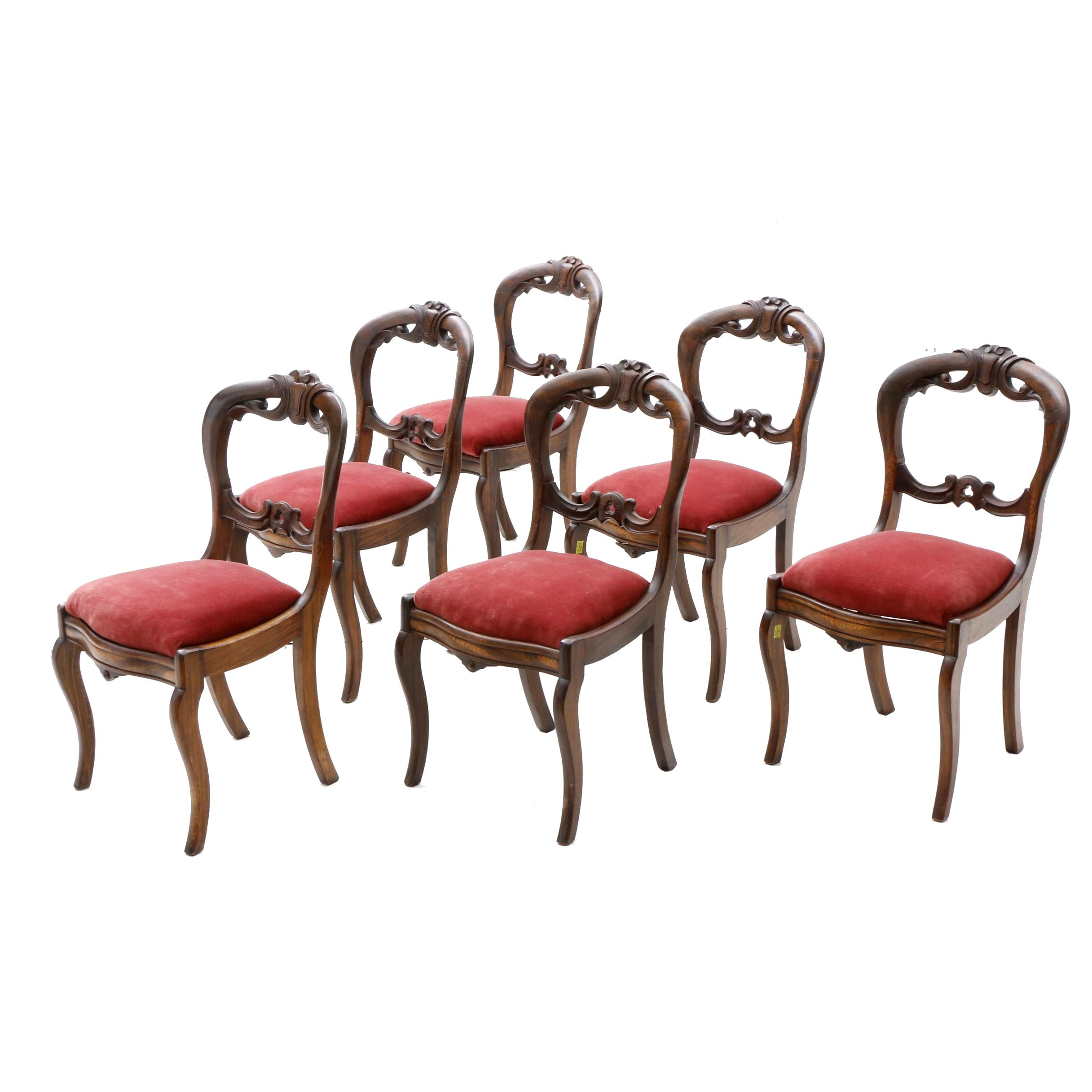 Six Victorian Side Chairs