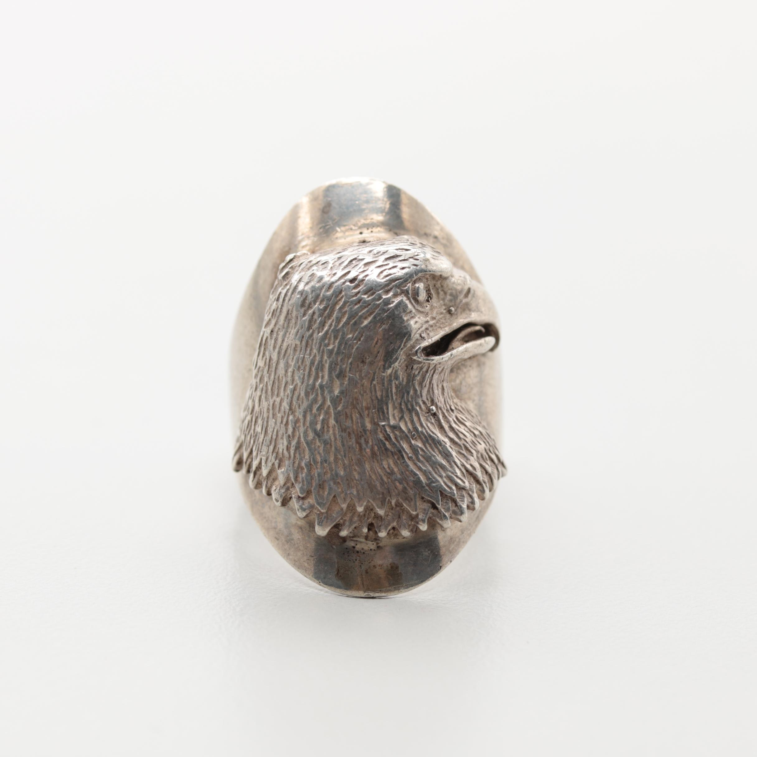 Silver Cloud Inc. Sterling Silver Eagle Head Ring