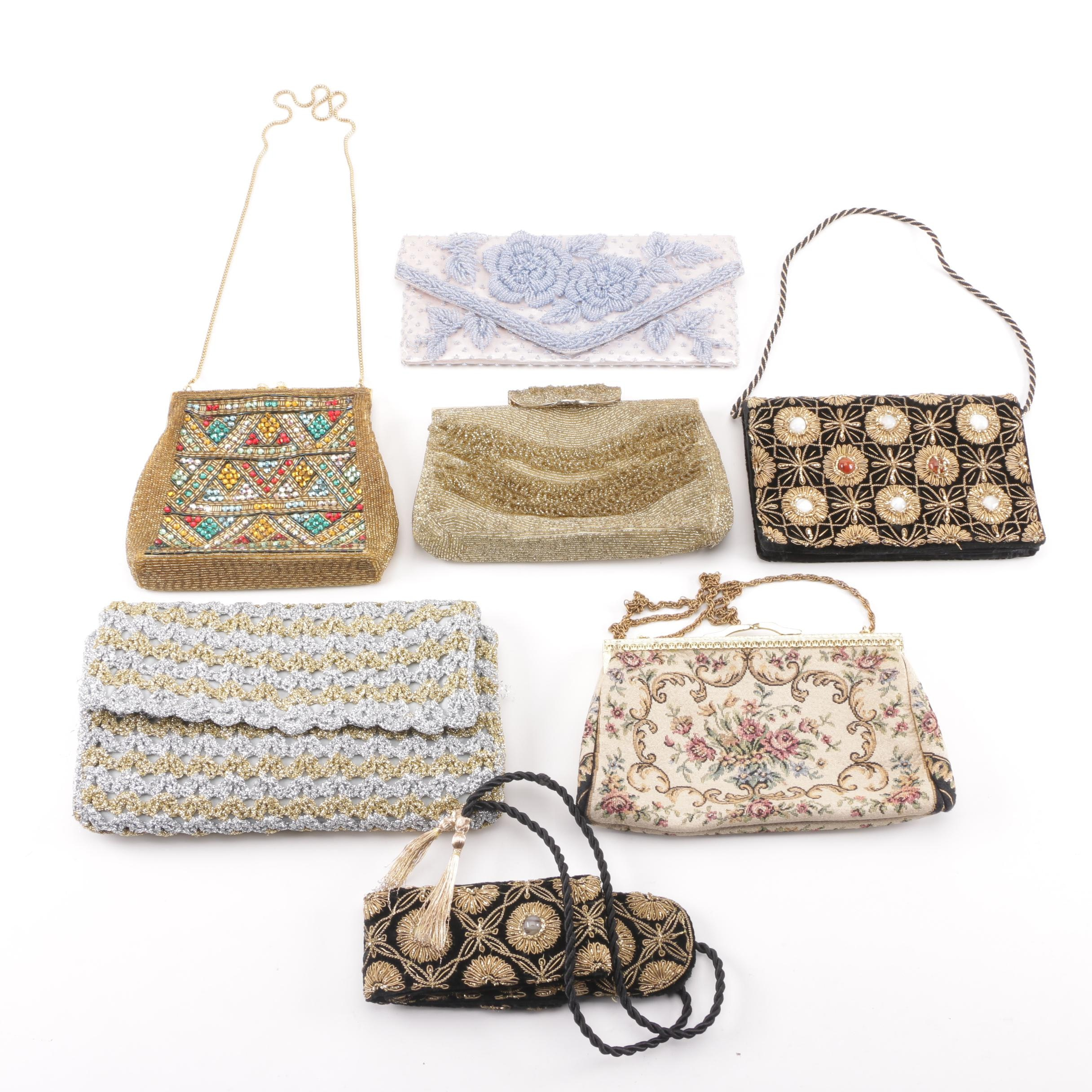 Vintage Evening Bags including Harry Rosenfeld, Magid and Zardozi Embroidery
