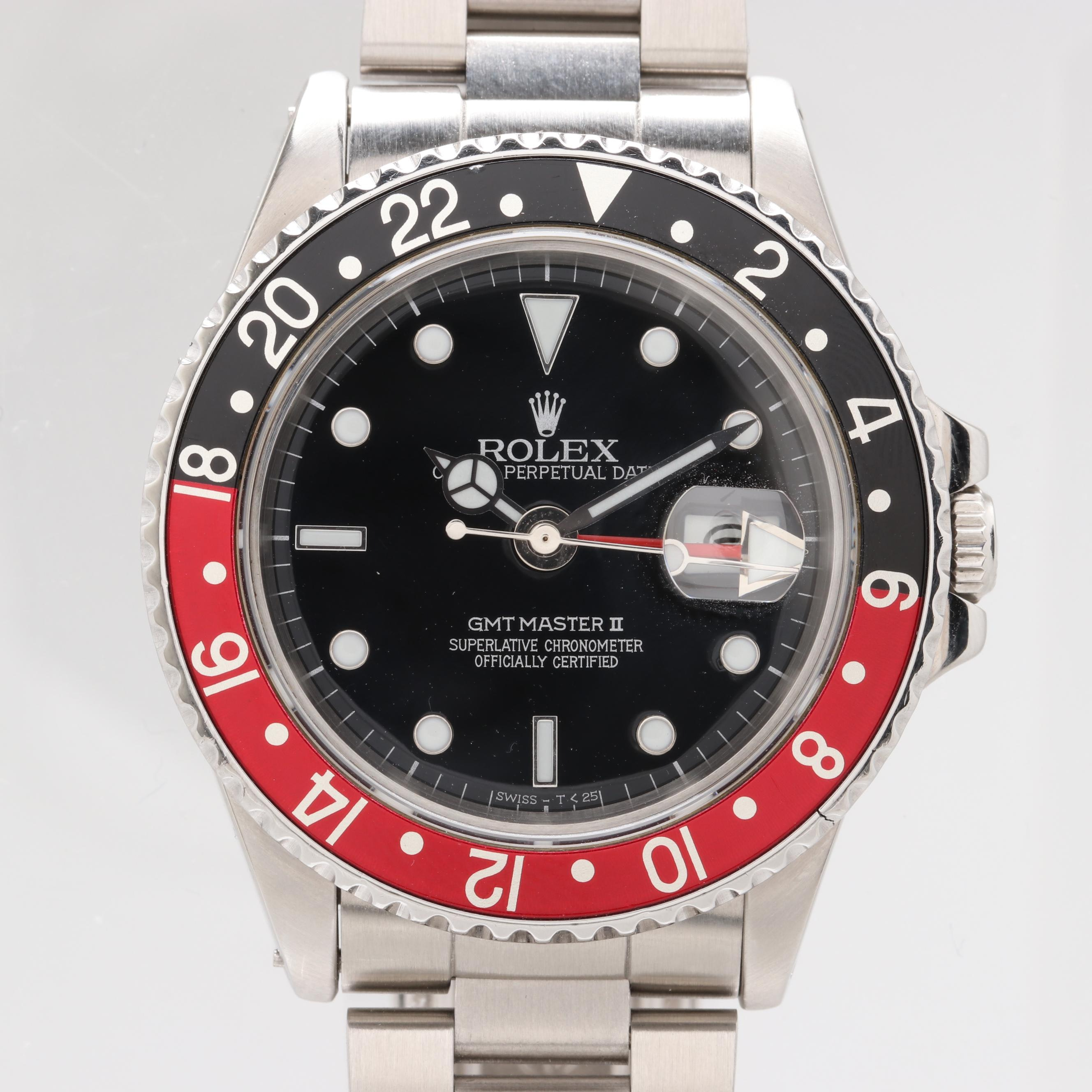 "Rolex GMT Master II ""Coke"" Bezel Automatic Wristwatch, 1986"