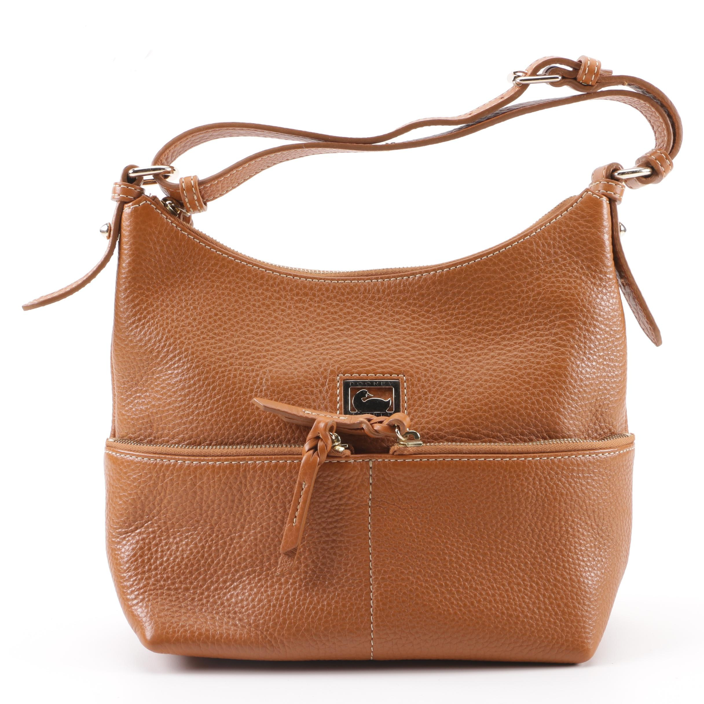 Dooney & Bourke Tan Pebbled Leather Hobo Bag