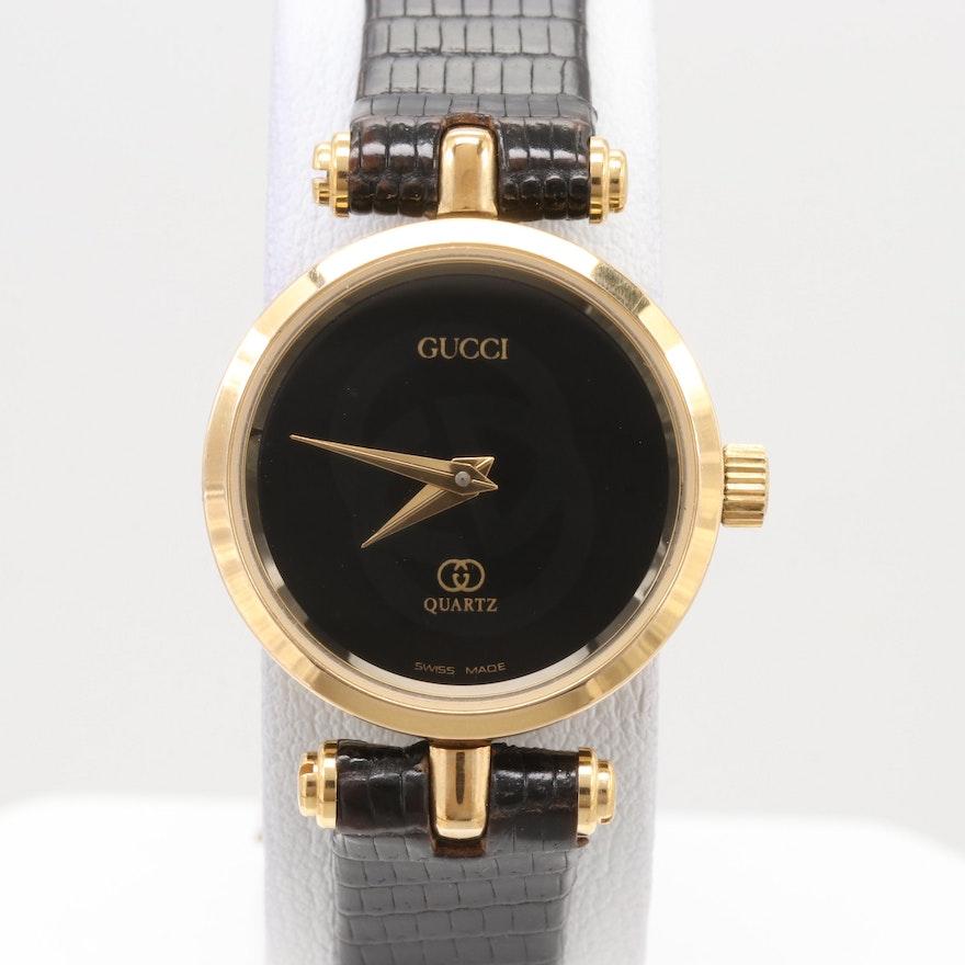 21990335bd0 Gucci Gold Tone Quartz Wristwatch   EBTH