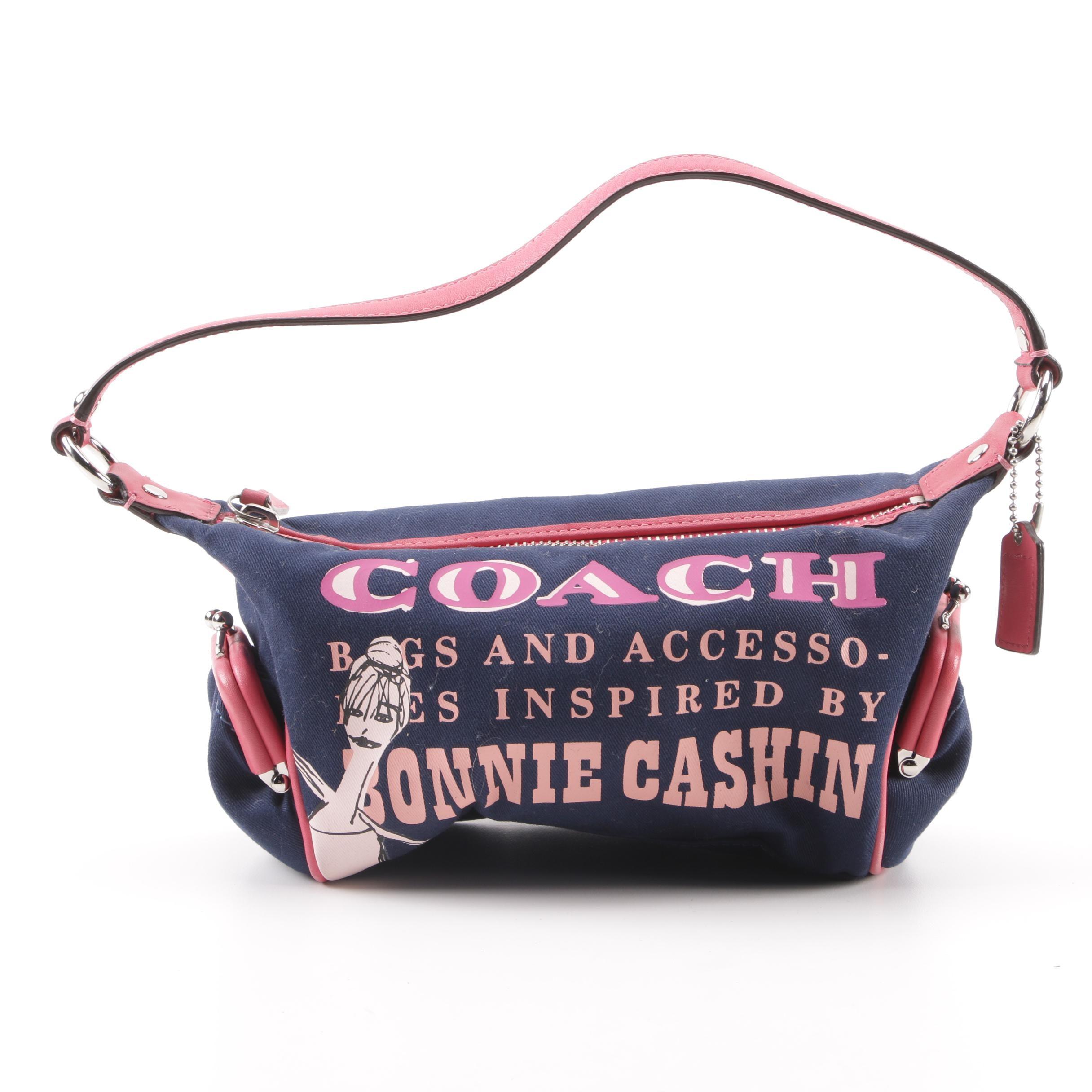 Coach Bonnie Cashin Print Canvas and Leather Baguette Handbag