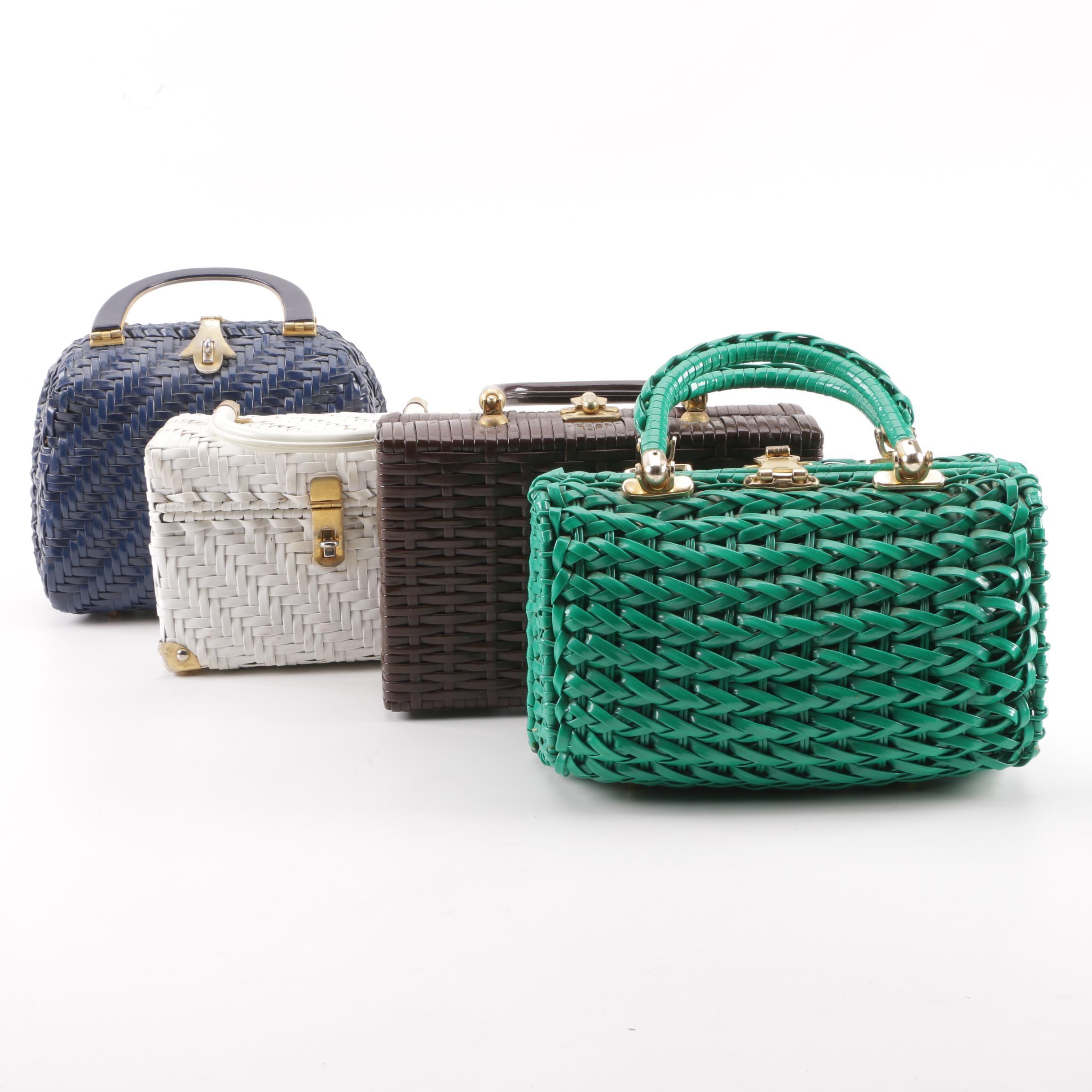 1960s Vintage Woven Box Purses Including Lesco Lona