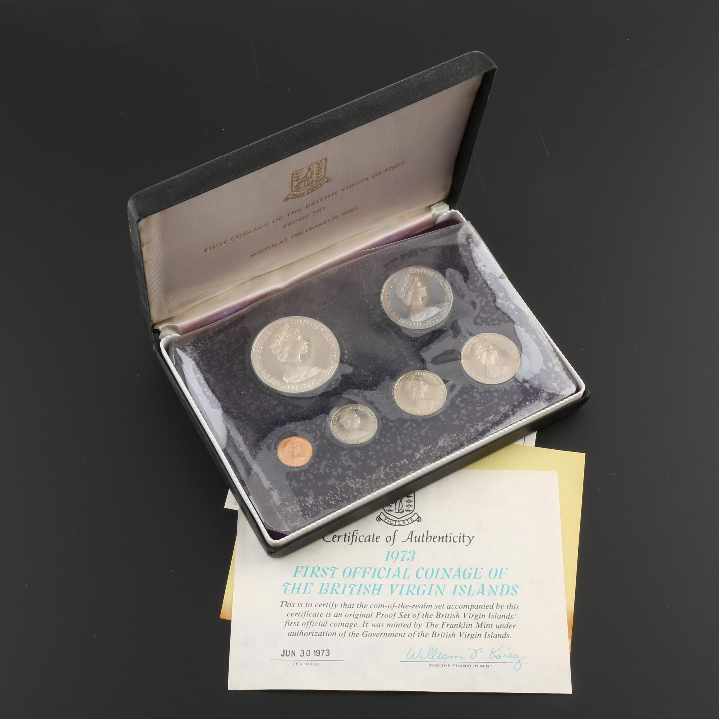 1973 Six-Coin Proof Set From the British Virgin Islands