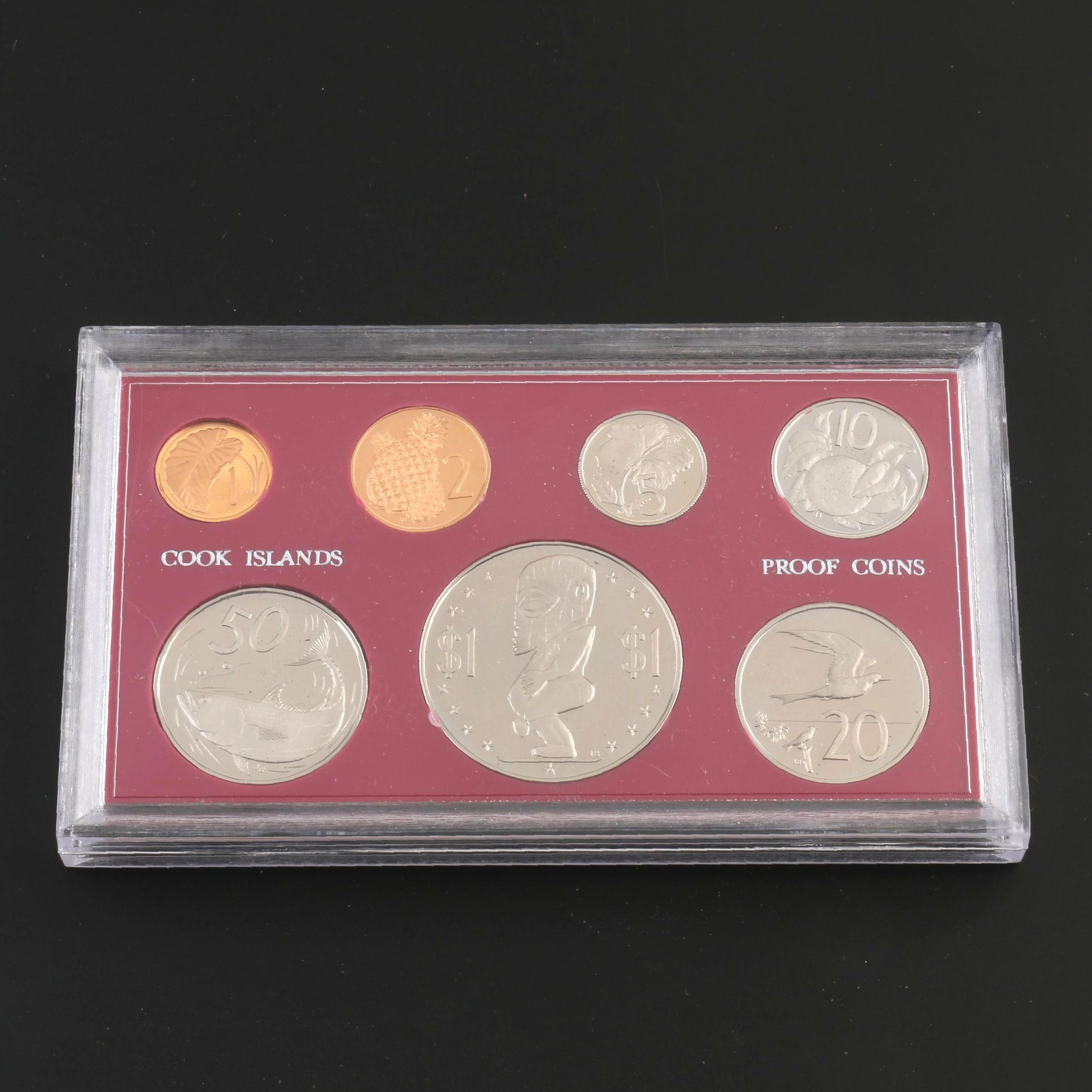 1972 Seven-Coin Proof Set From the Cook Islands