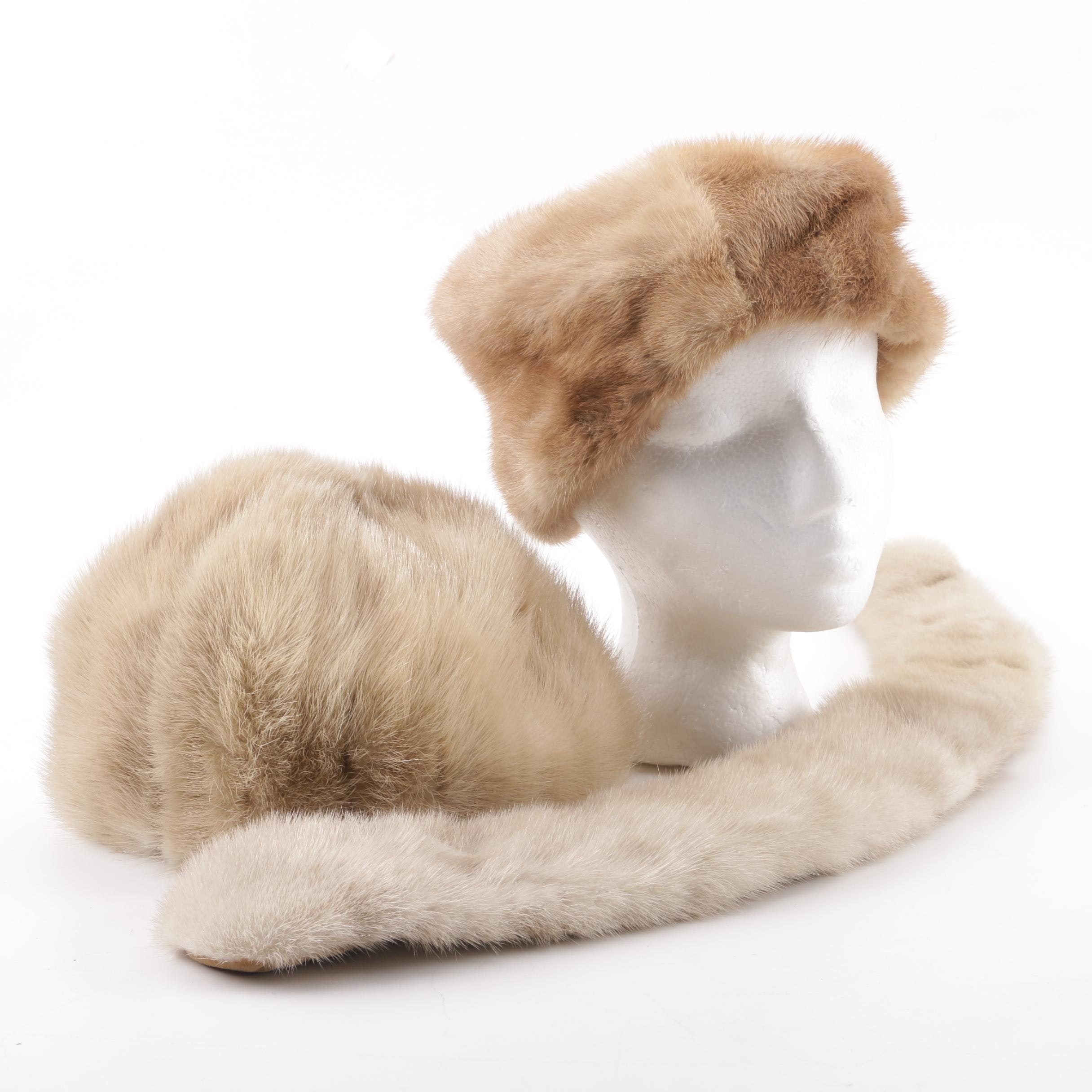Women's Vintage Mink Fur Hats and Collar including René Michael