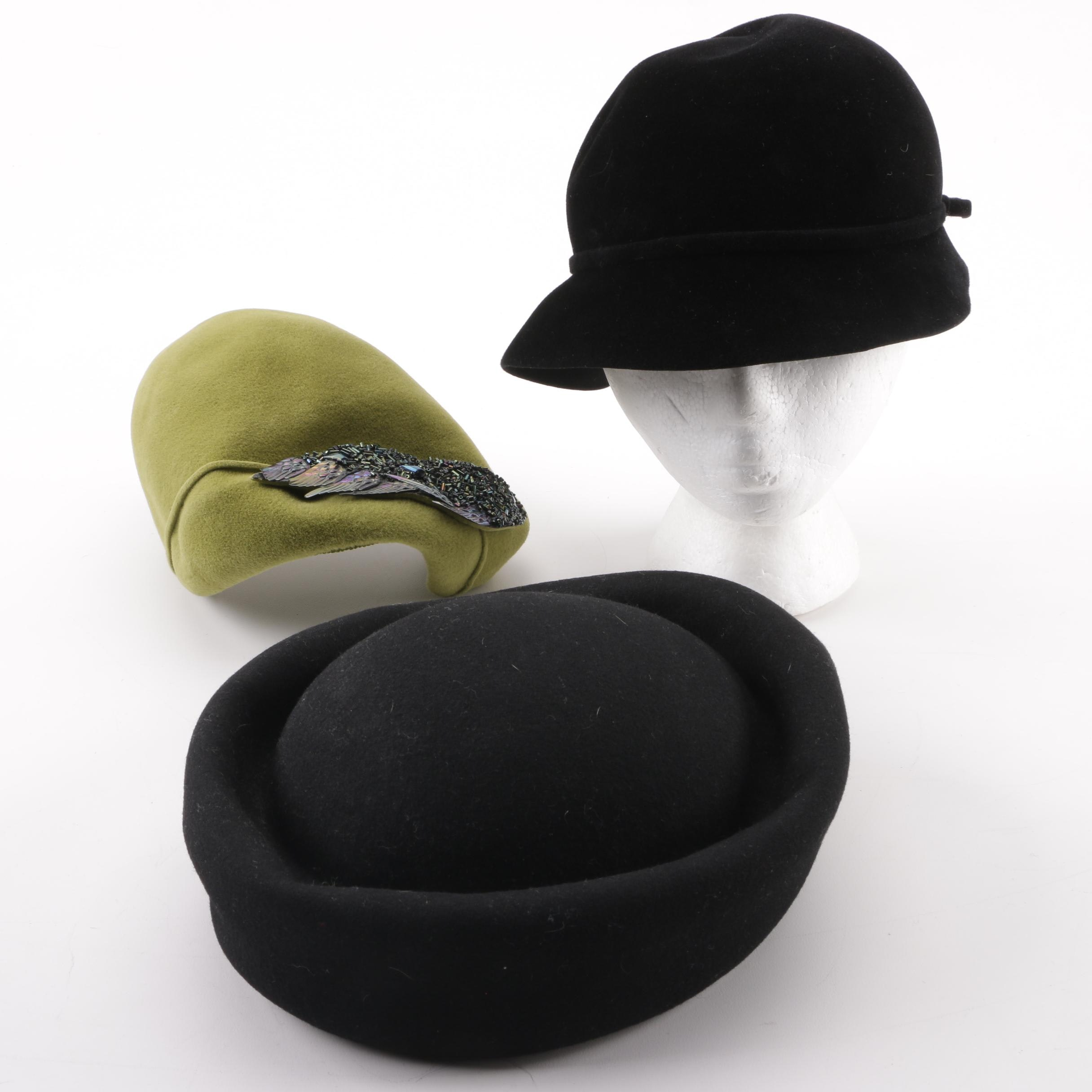 Peachbloom Velour, Ginza Oriental Tokyo and the J.L.Hudson Co. Hats