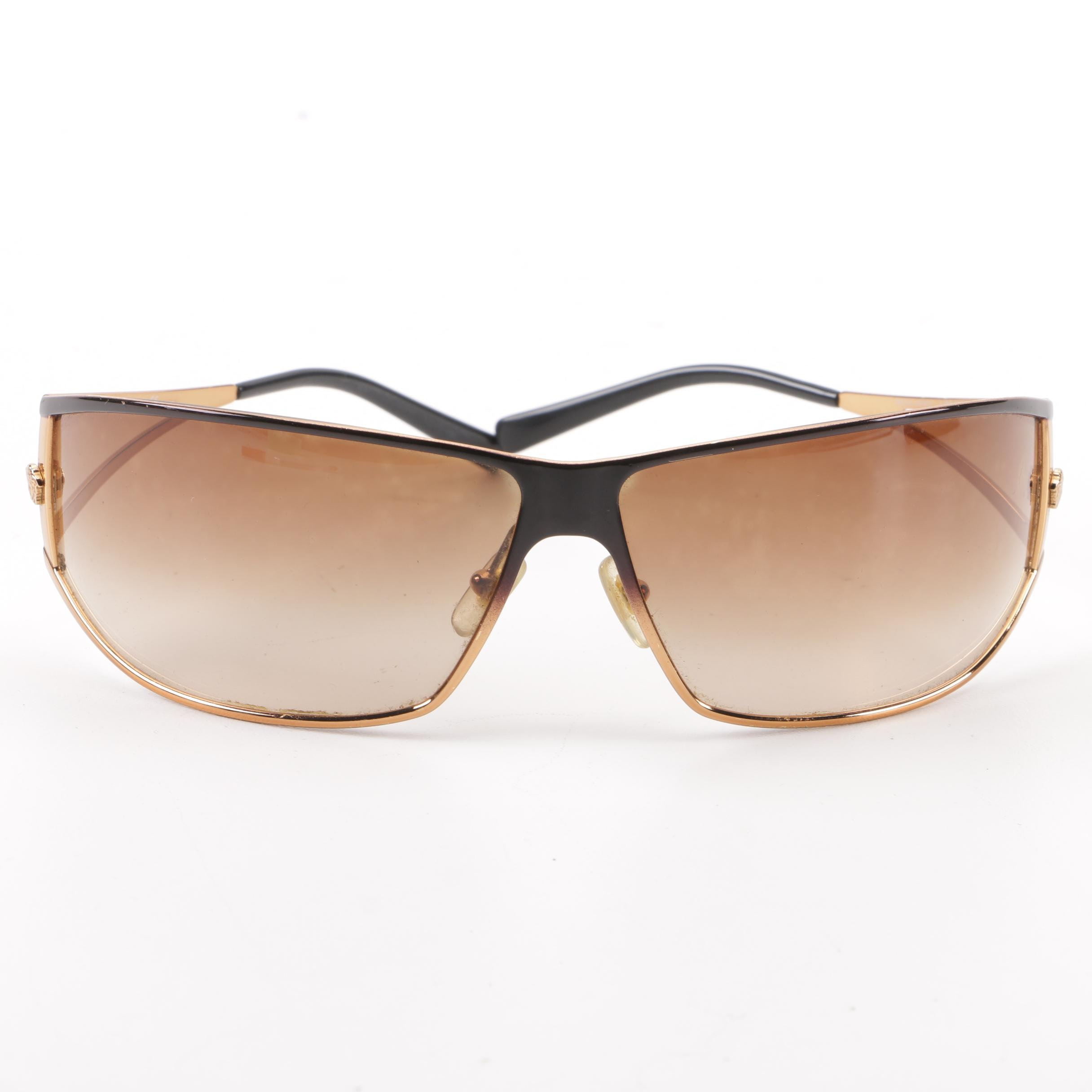 Versace 2040 Wrap Sunglasses with Case