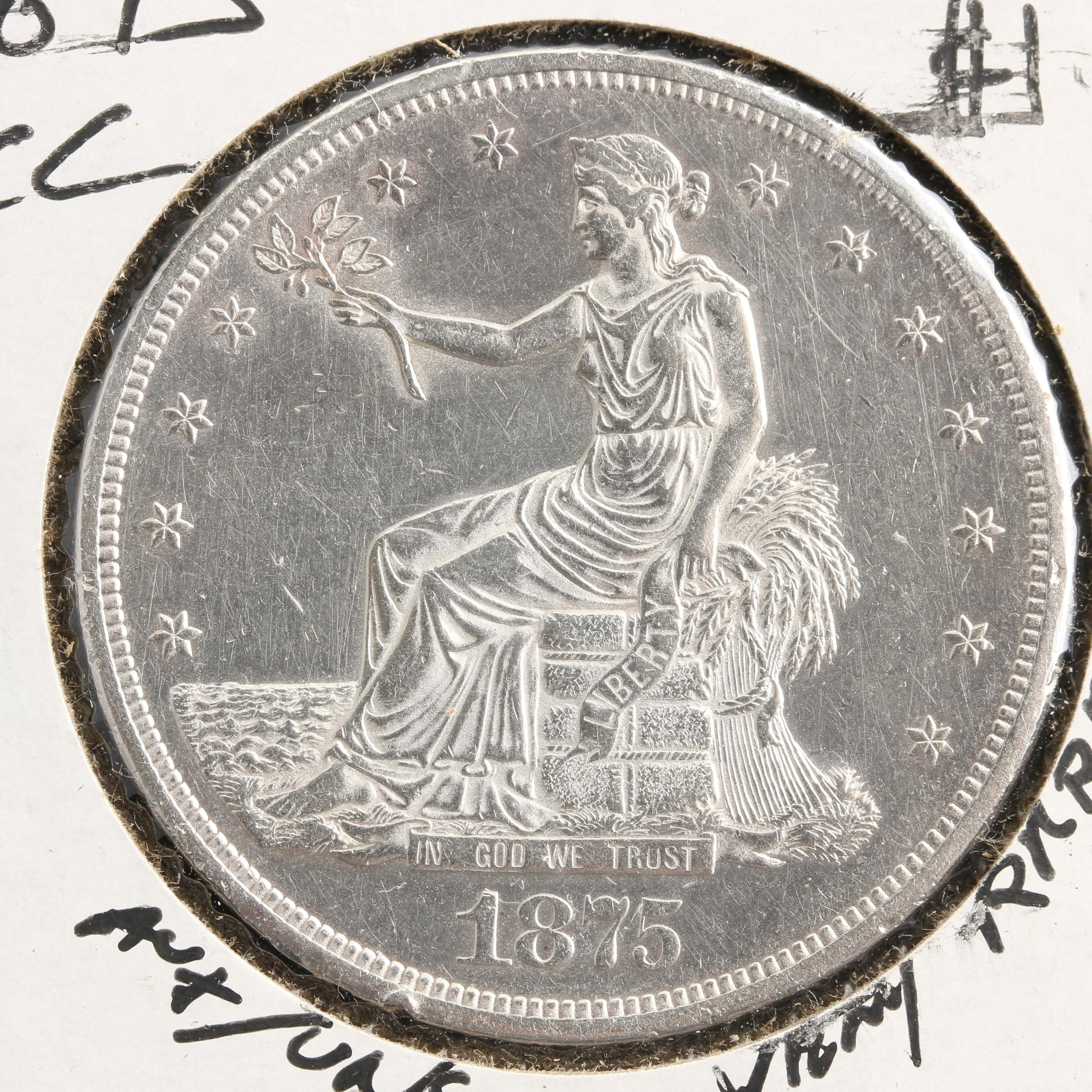 1875 Carson City Silver Trade Dollar
