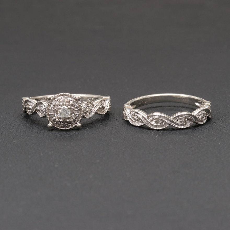925 cn diamond ring