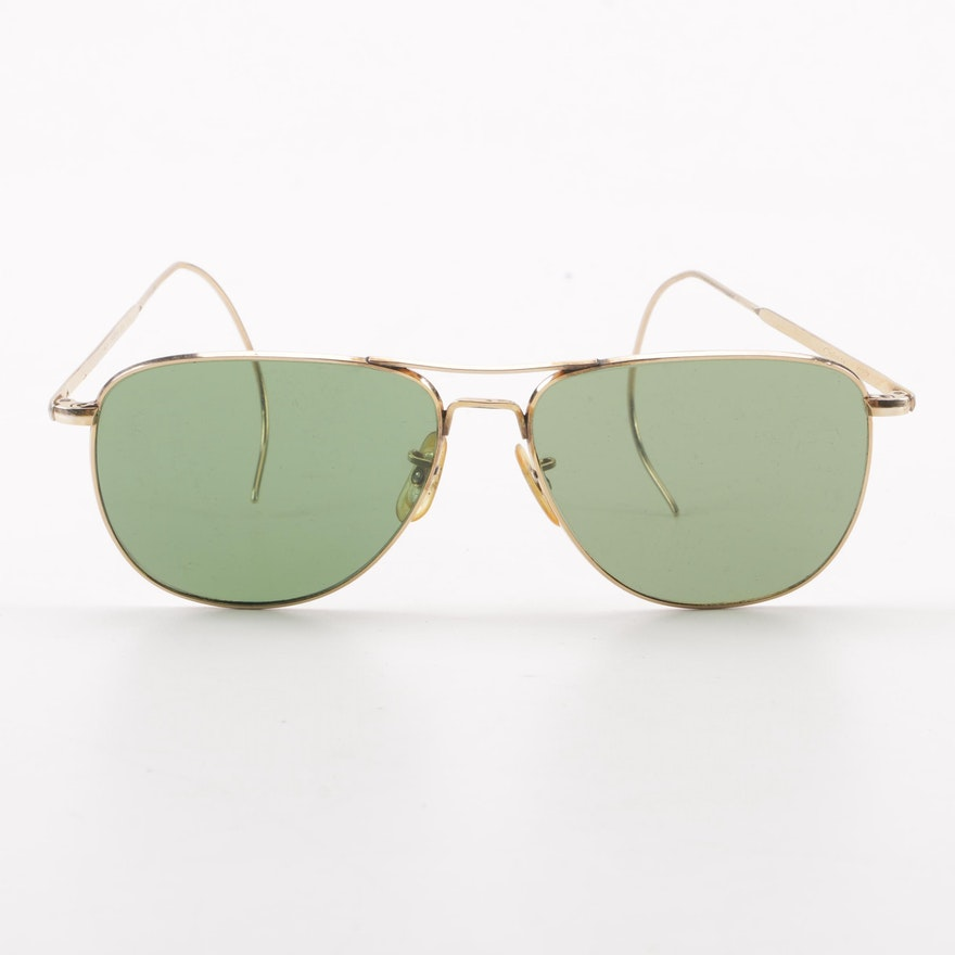 71bc67de1da7f 1940s Vintage American Optical Calobar Gold Filled Sunglasses with Original  Case ...