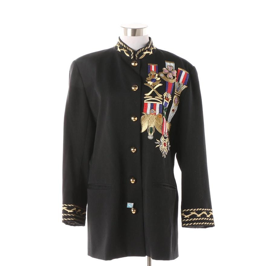 6e2a6fac4850 Women's Adam Douglass for Adrianna Papell Nautical Inspired Wool Jacket ...