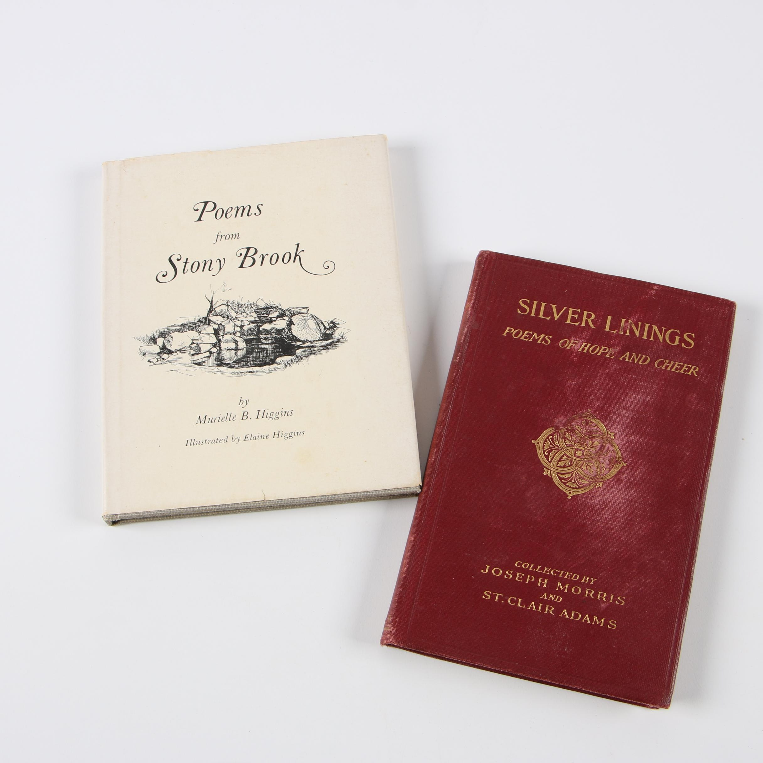 """Poetry Books with First Edition """"Poems from Stony Brook"""" by Murielle B. Higgins"""