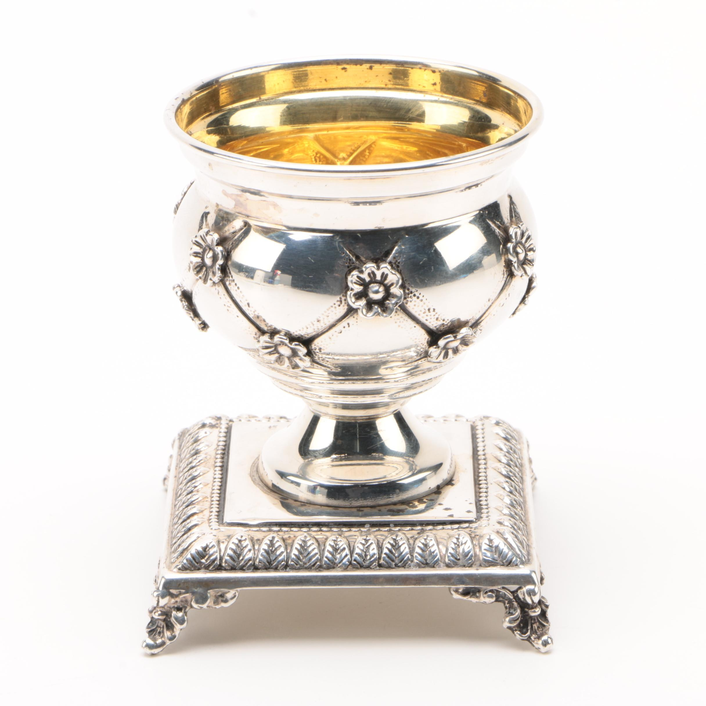 Hadad Bros. Israeli Sterling Silver Master Salt Cellar