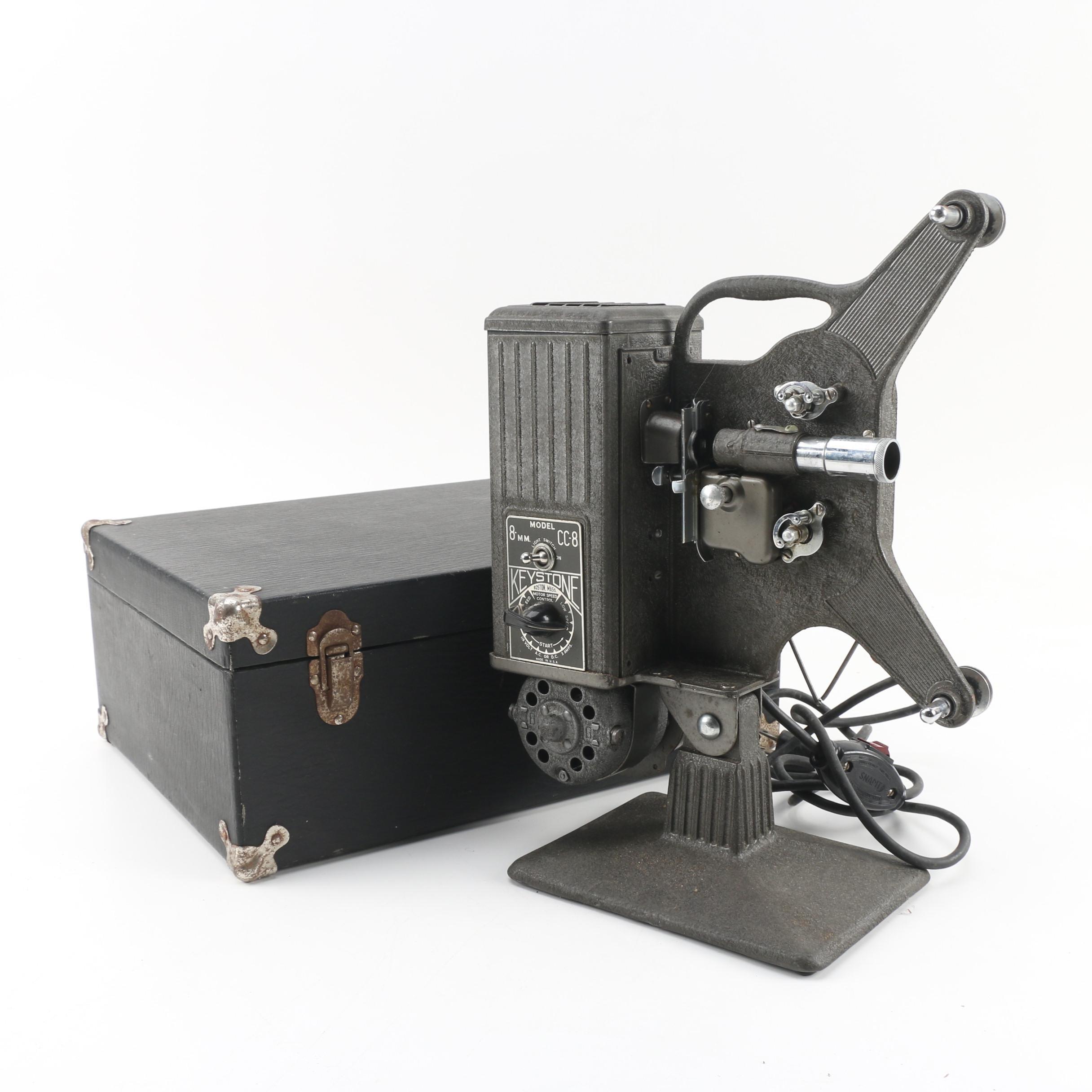 Keystone CC-8 Portable 8mm Film Projector, Circa 1940s