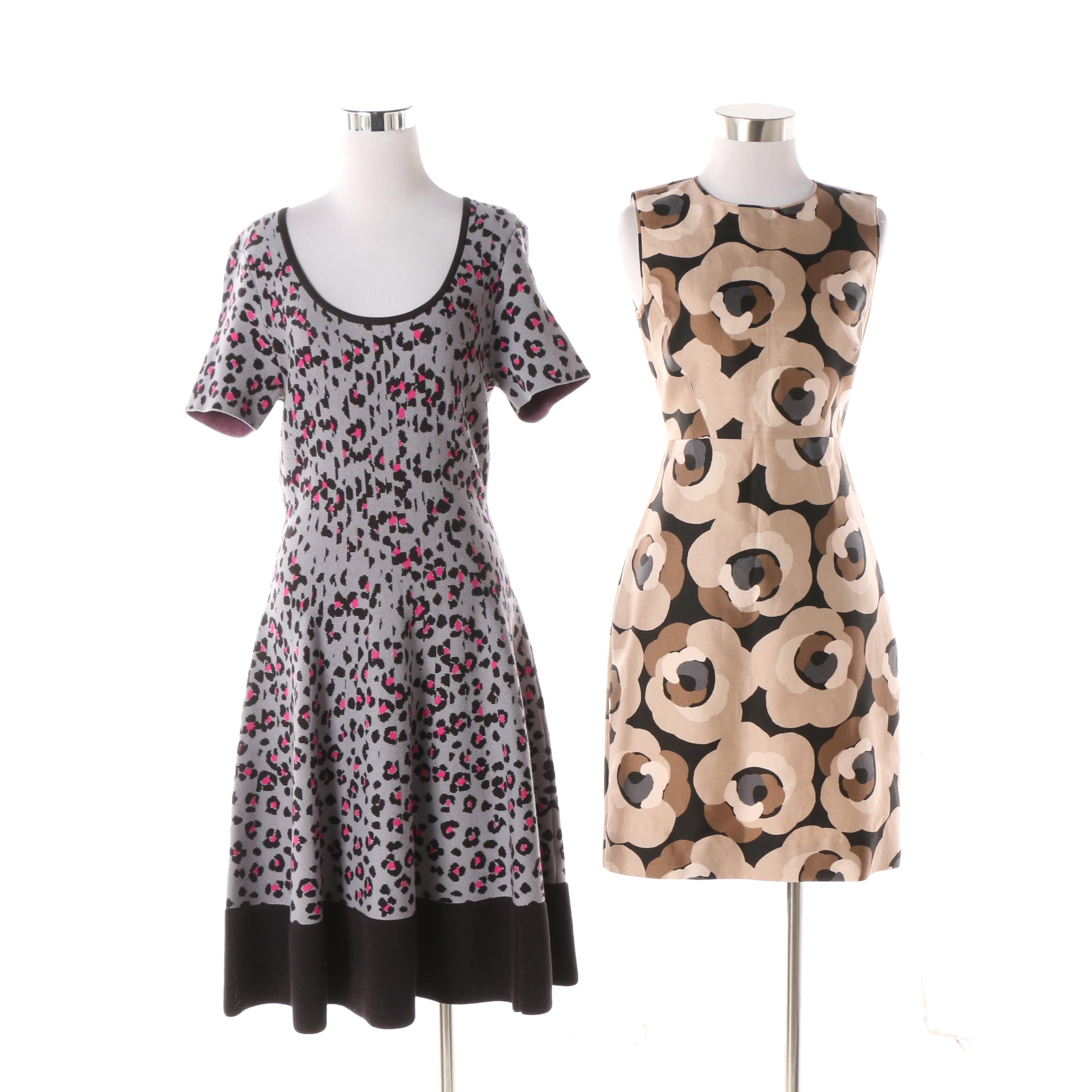 Kate Spade New York Sleeveless Shift Dress and Animal Print Knit Dress