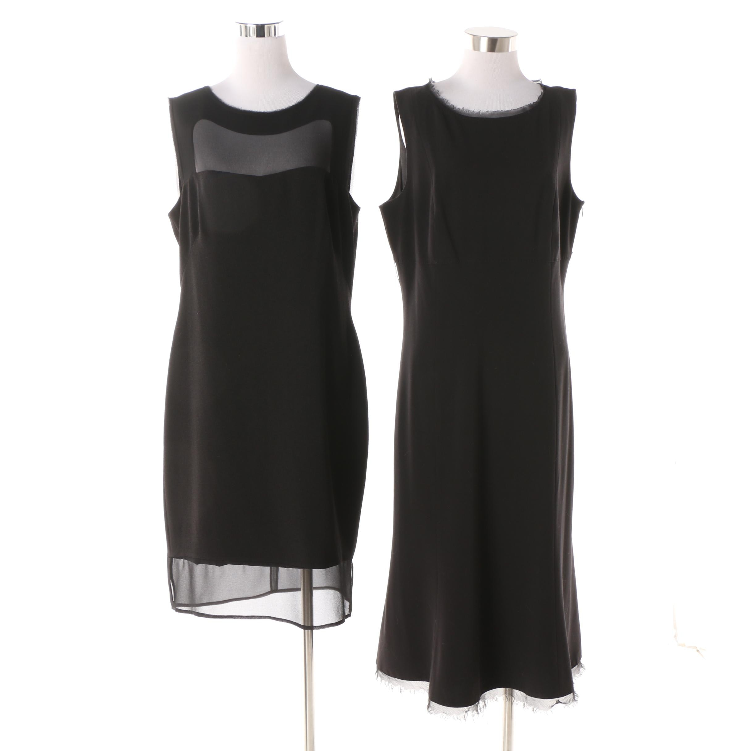 Women's T Tahari and Jessica Simpson Black Sleeveless Cocktail Dresses