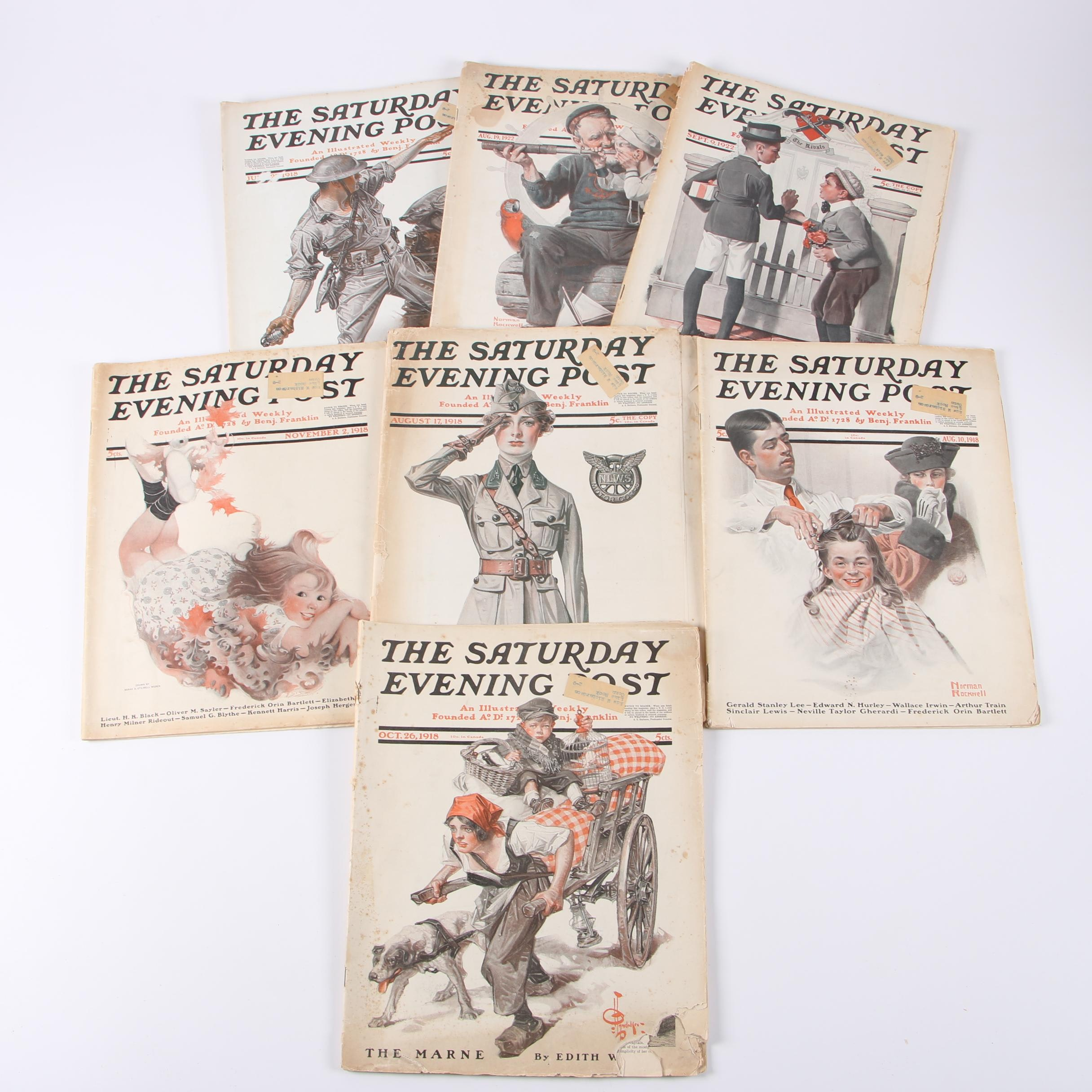"1918 and 1922 ""The Saturday Evening Post"" Issues"