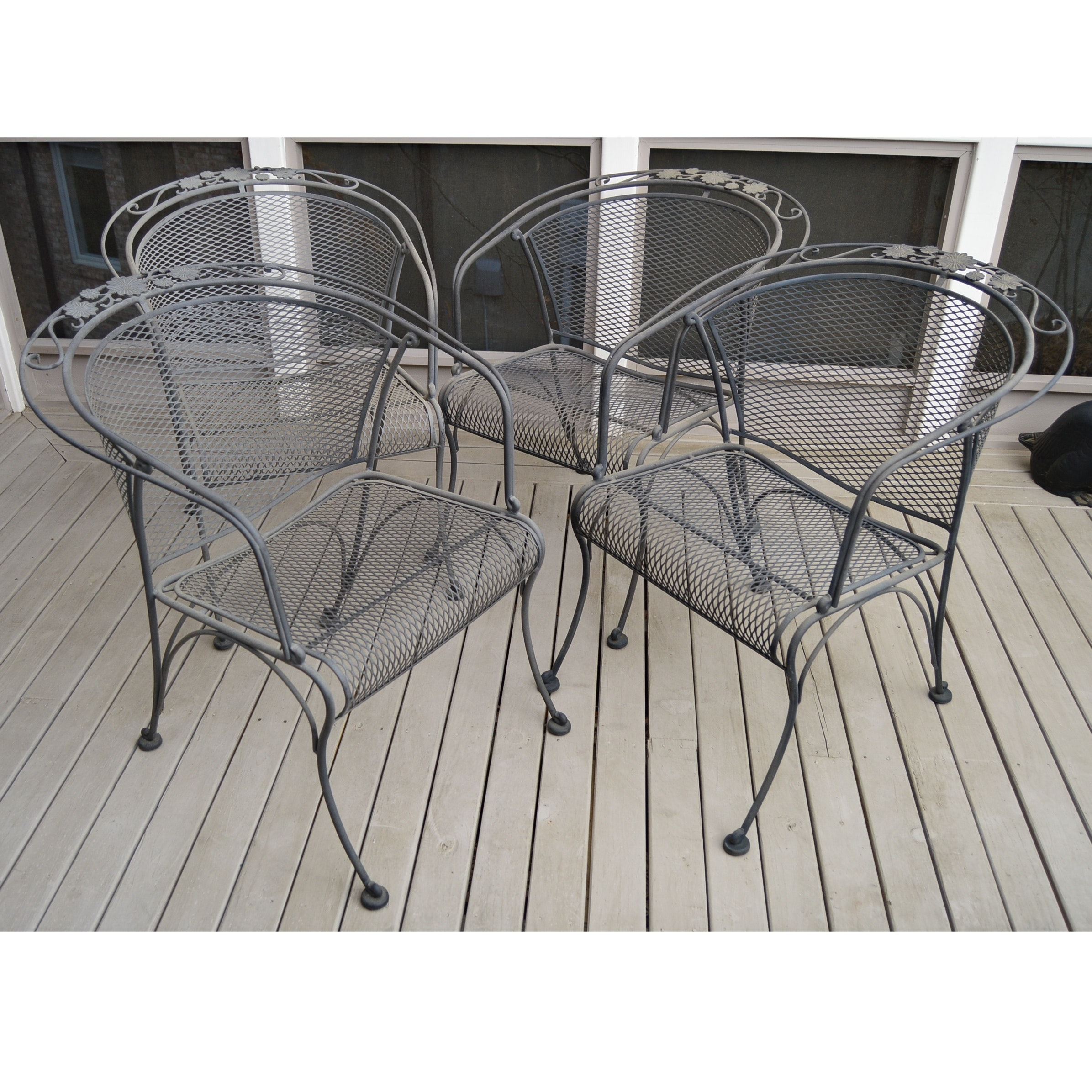 Set of Wrought Iron Outdoor Chairs