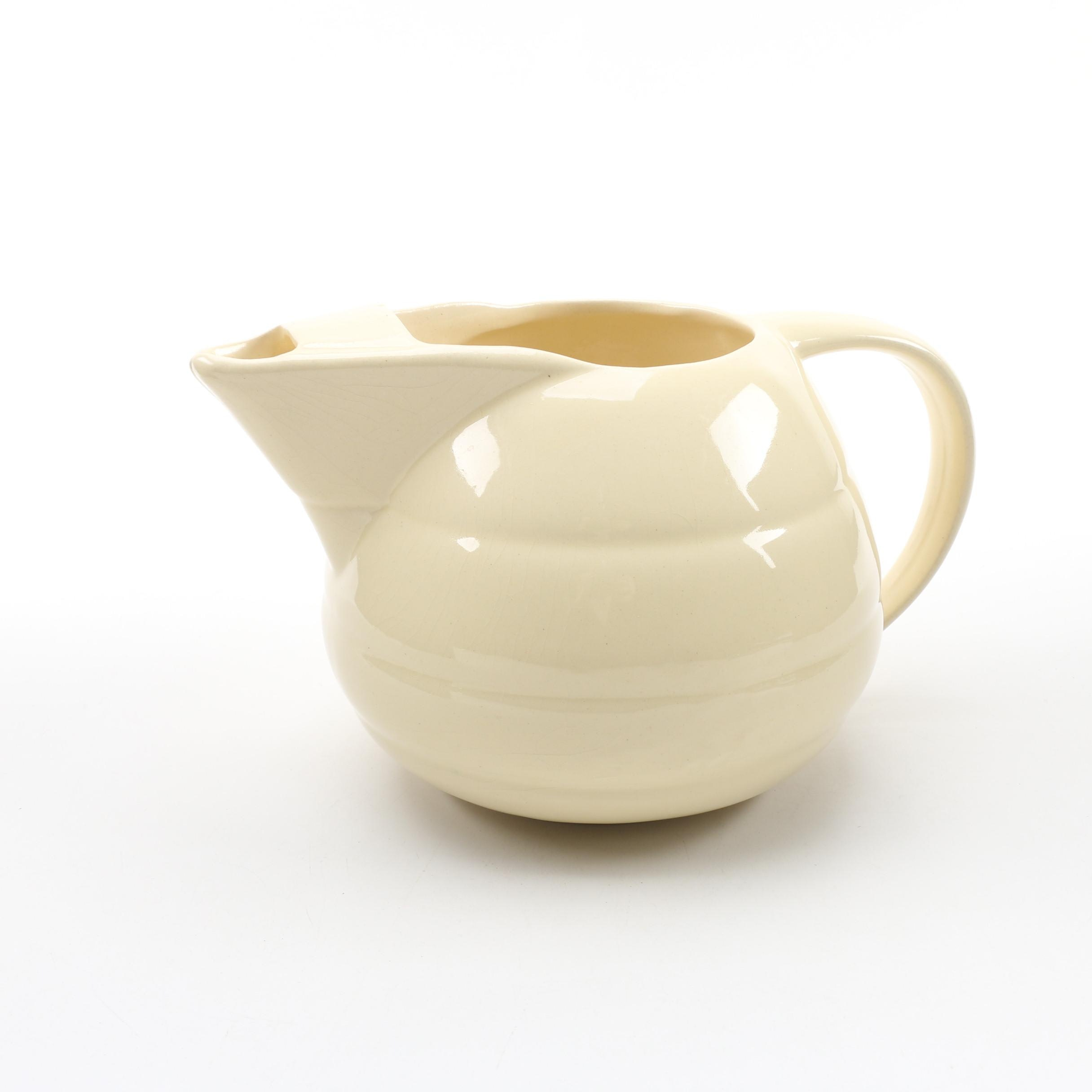 "Bauer Pottery ""Ring Ivory"" Pitcher"
