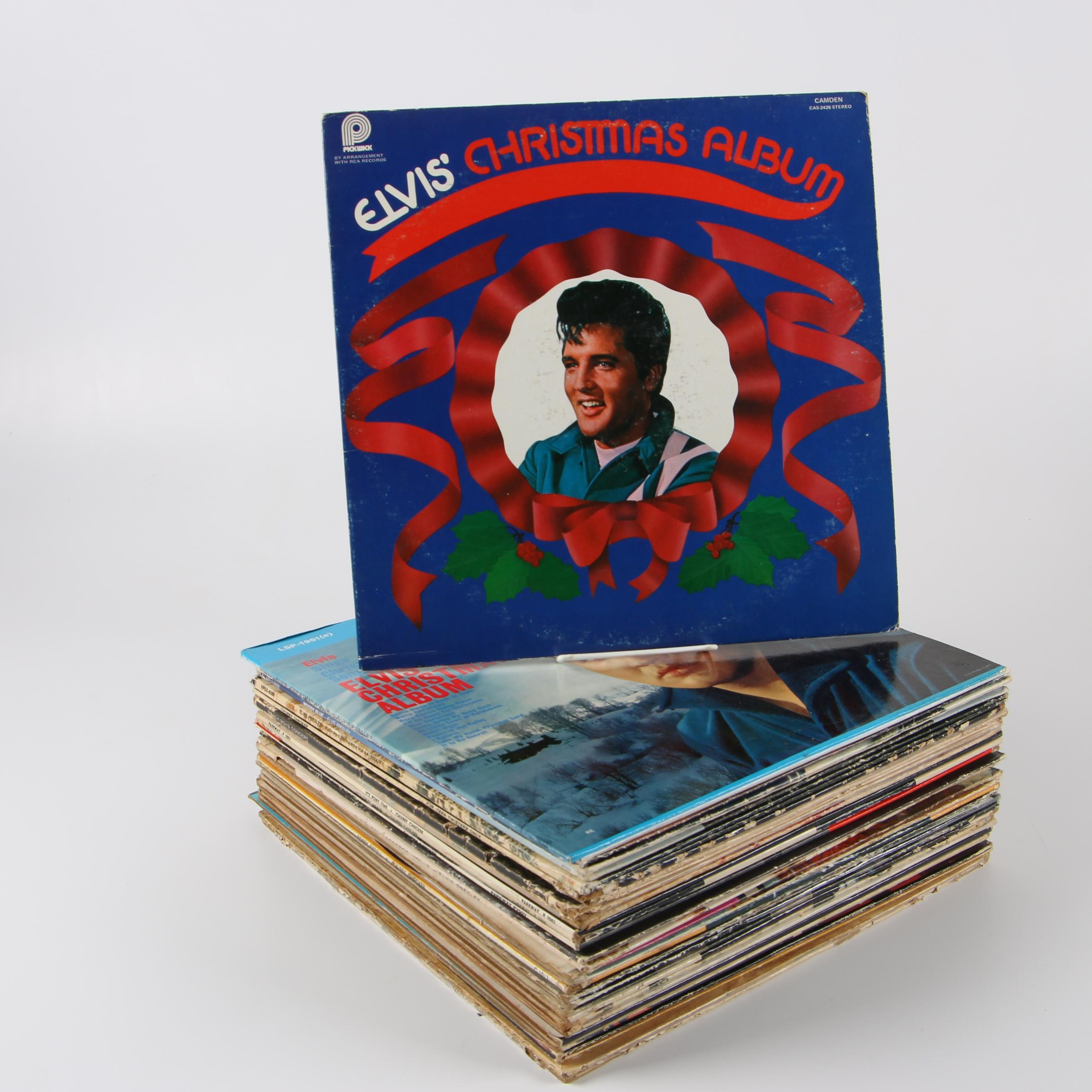 Rock and Roll Records including Elvis, The Beach Boys, Chubby Checker and More