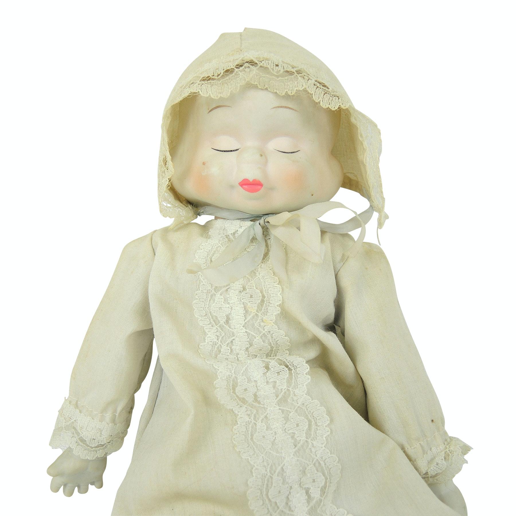 Vintage Triple Face Bisque Doll