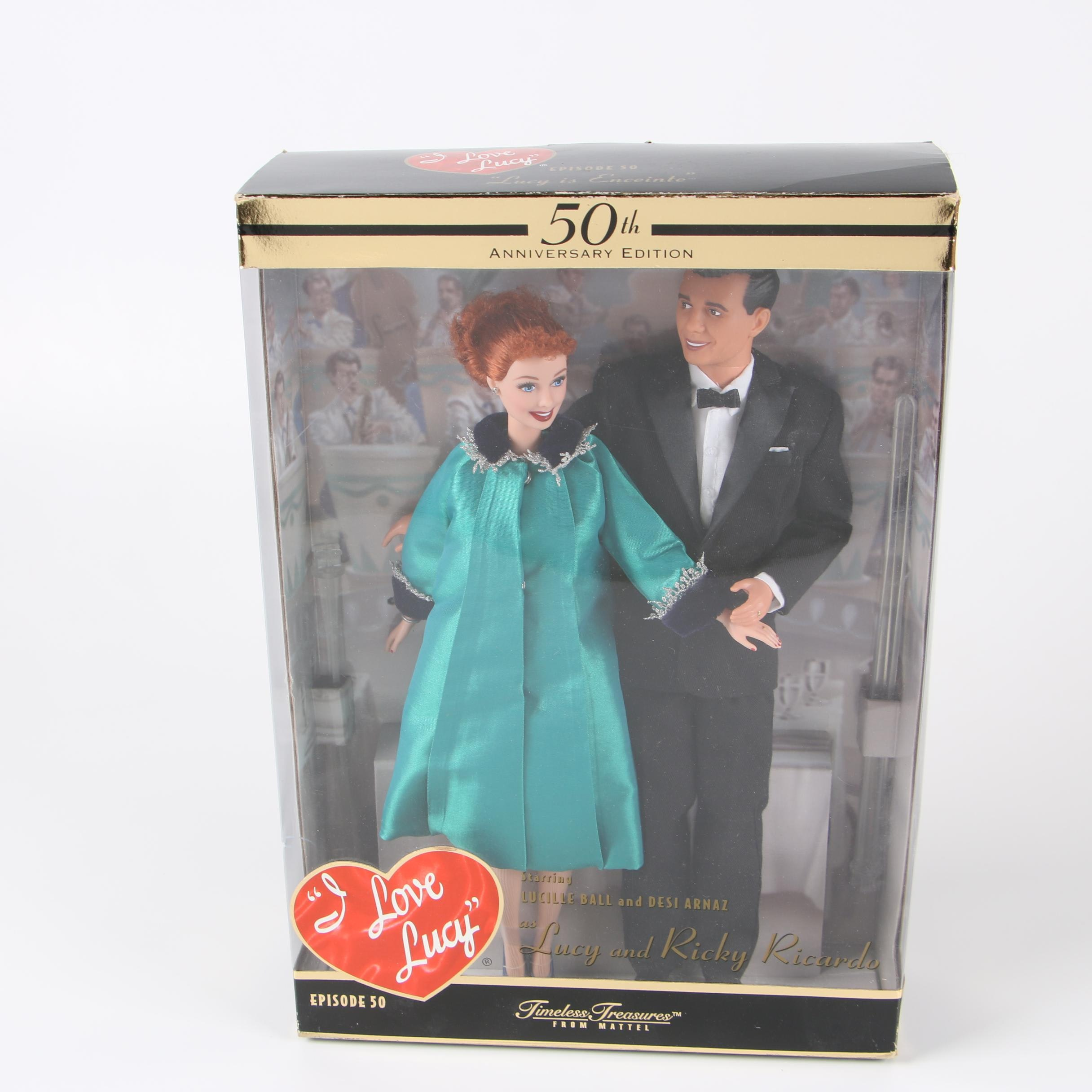 """Mattel 50th Anniversary """"I Love Lucy"""" Character Dolls"""