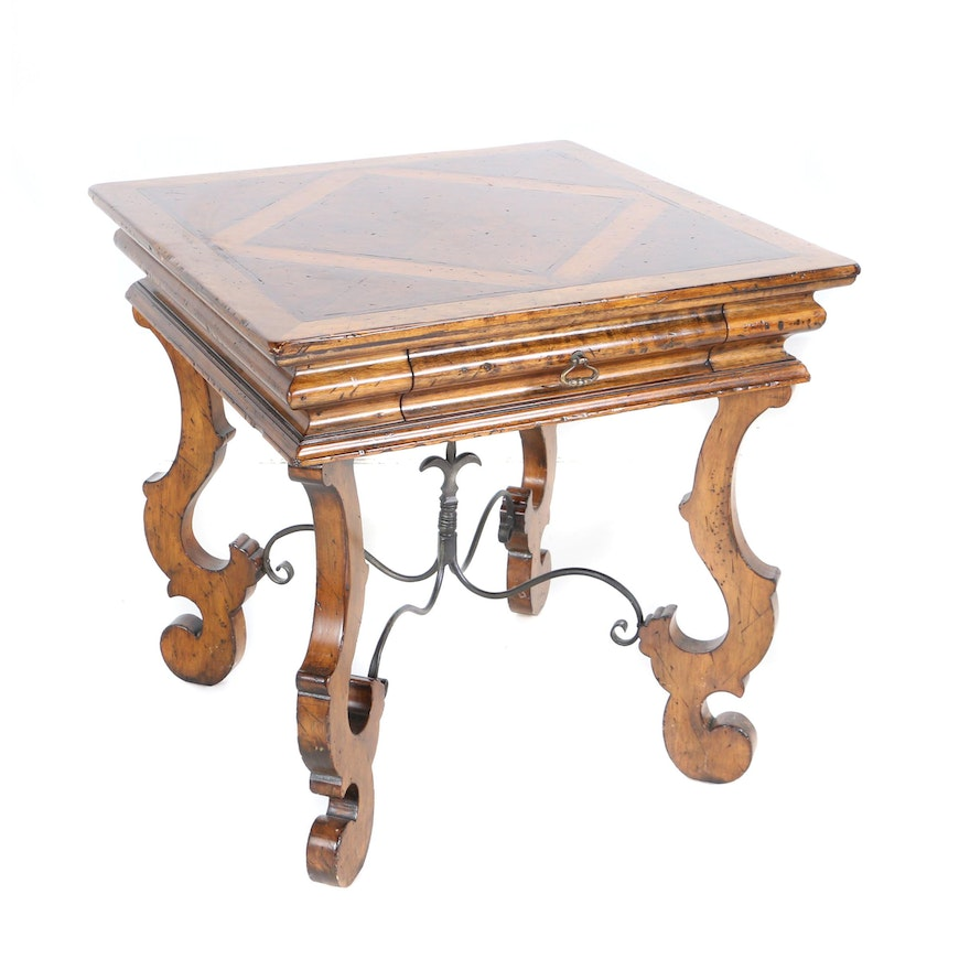 Tremendous Contemporary French Provincial Style Side Table With Parquetry Top By Henredon Short Links Chair Design For Home Short Linksinfo