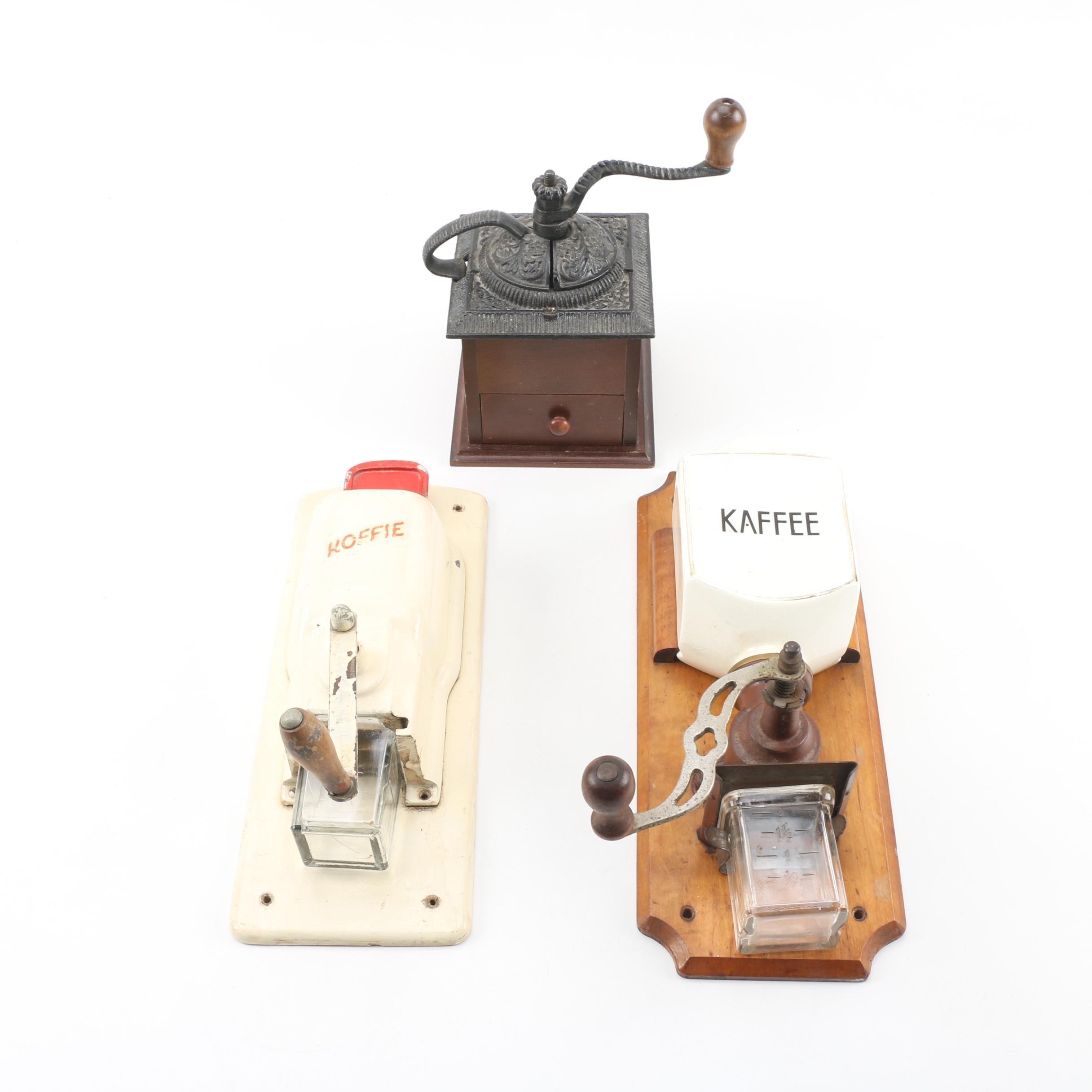 Vintage Coffee Grinders featuring German Leinbrock Ideal