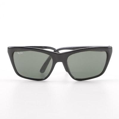 0233484b00 Vintage B L Ray-Ban Cats Black Modified Square Sunglasses