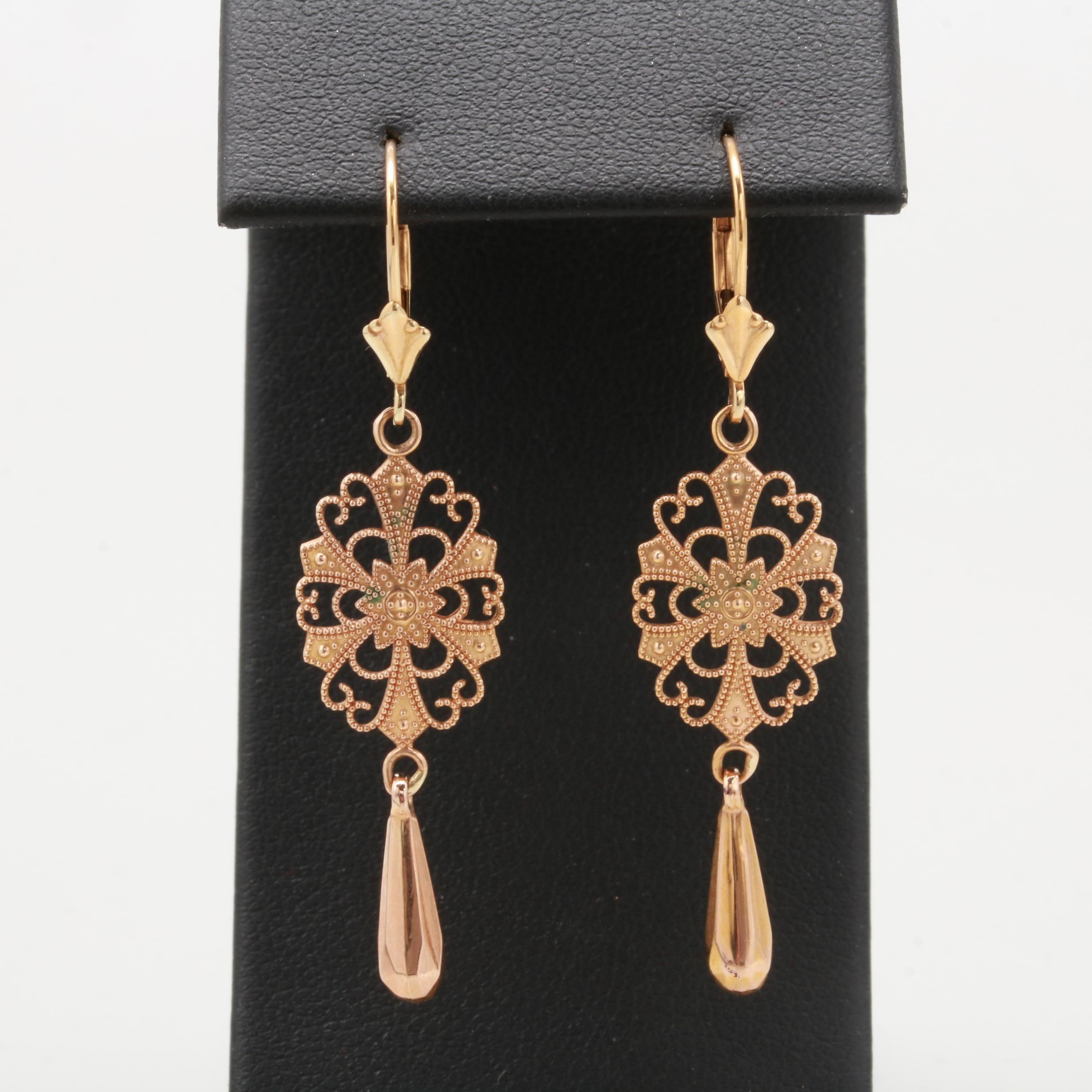 Michael Anthony 14K Yellow Gold Dangle Earrings