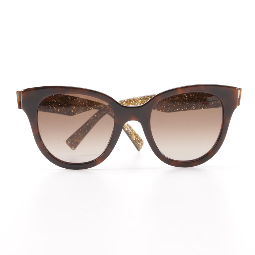 42b30aab2c Marc Jacobs Faux Tortoise Modified Cat Eye Sunglasses with Glitter Accents  ...