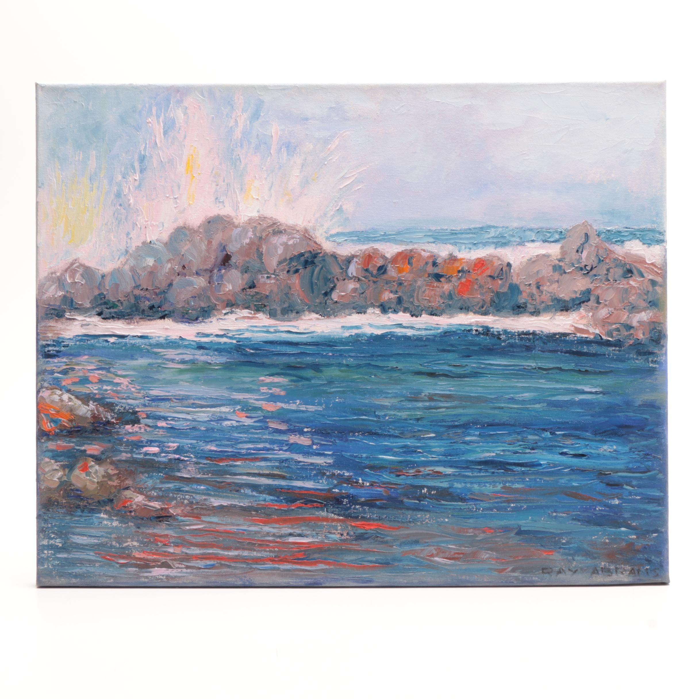 Ray Abrams Oil Seascape Painting