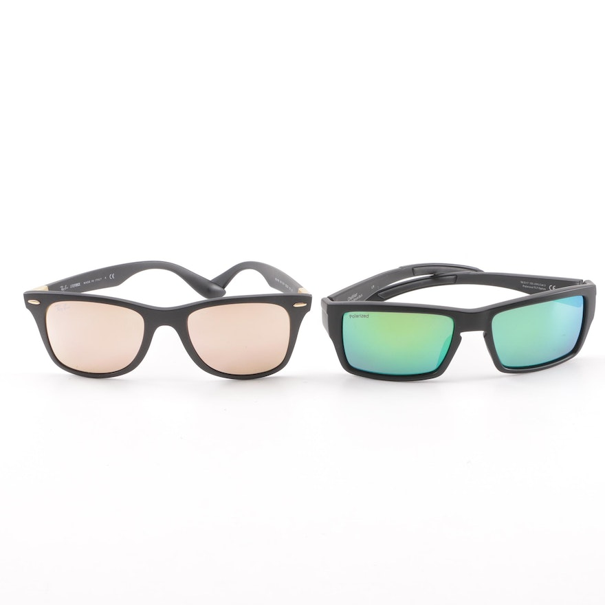 63609dd2fa8 Mirrored Sunglasses including Ray-Ban LiteForce and Smith Outlier with  Cases ...