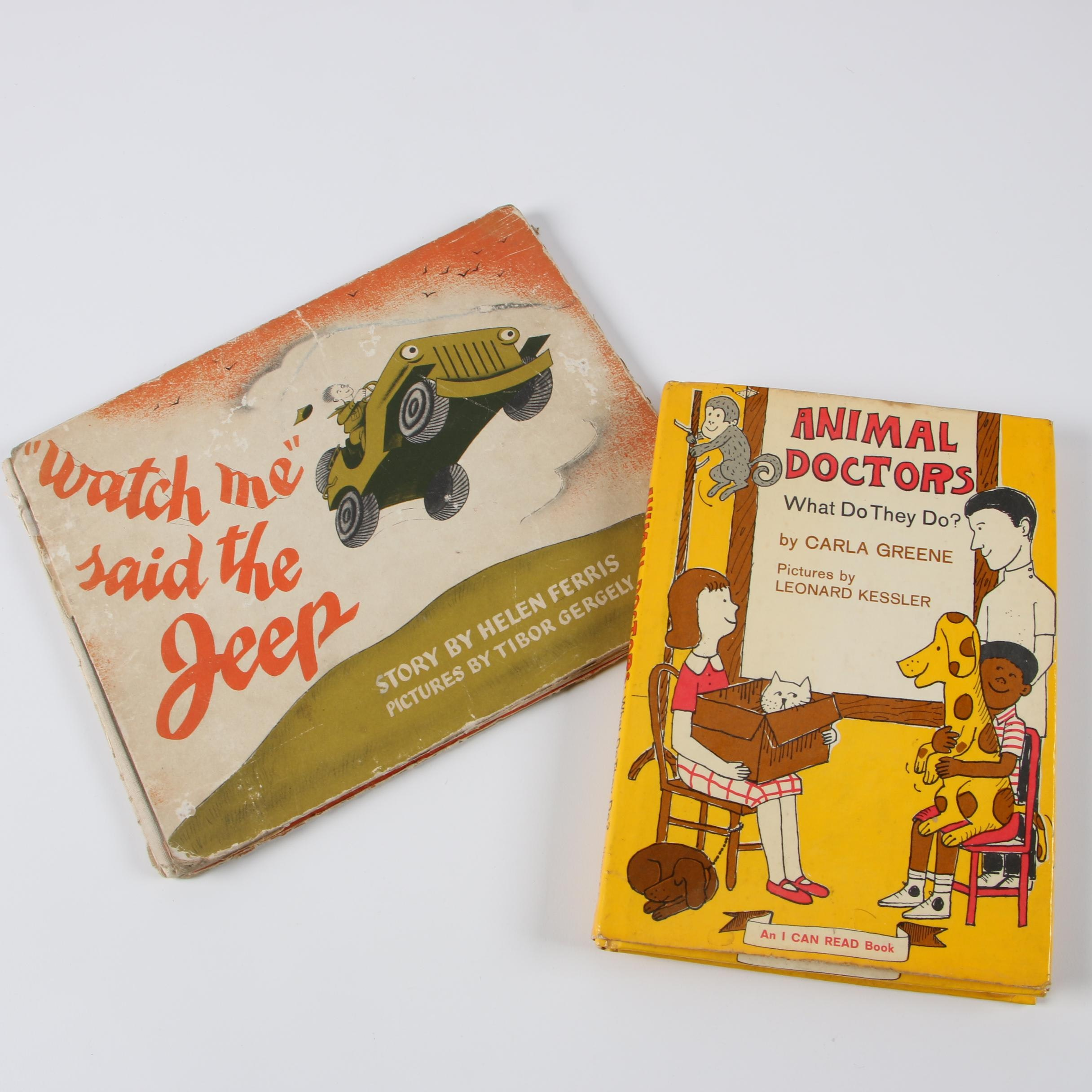 "1944 First Edition ""'Watch Me' Said the Jeep"" and 1967 ""Animal Doctors"""