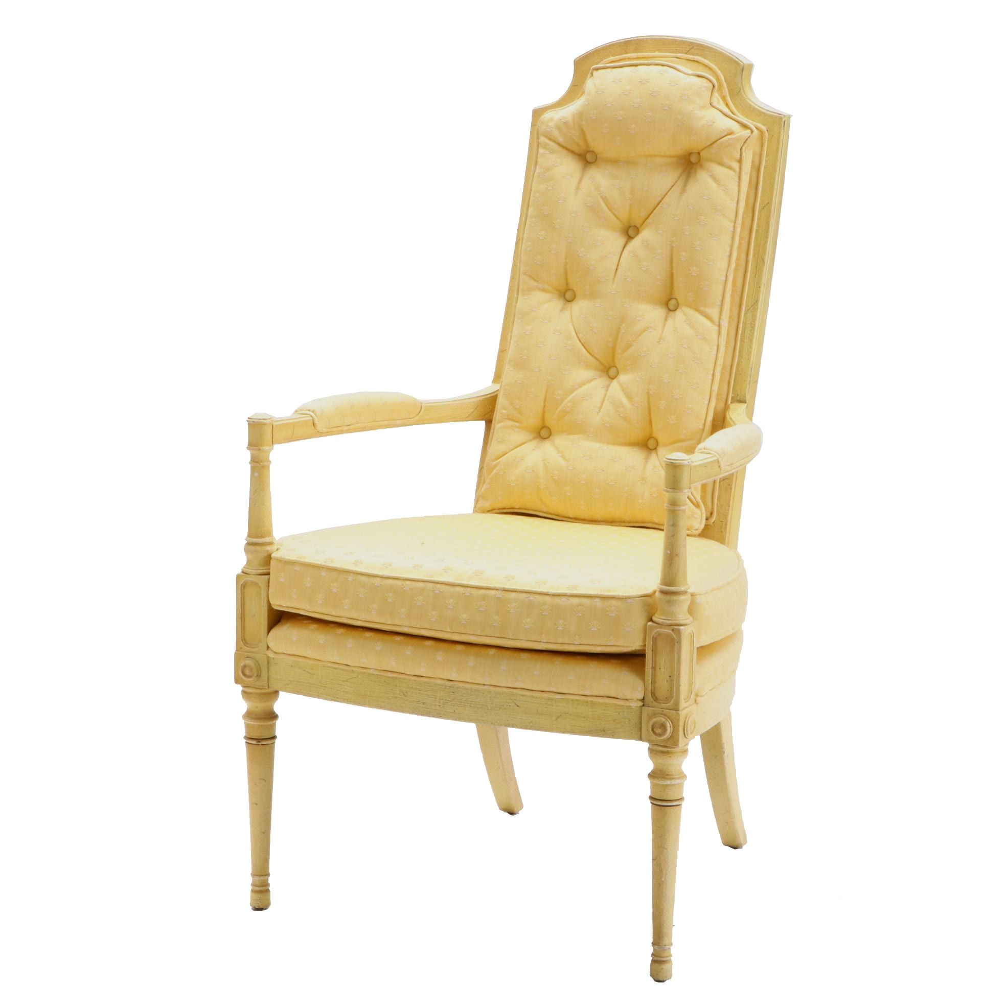 Louis XVI Style Upholstered Arm Chair by Drexel Heritage, 20th Century