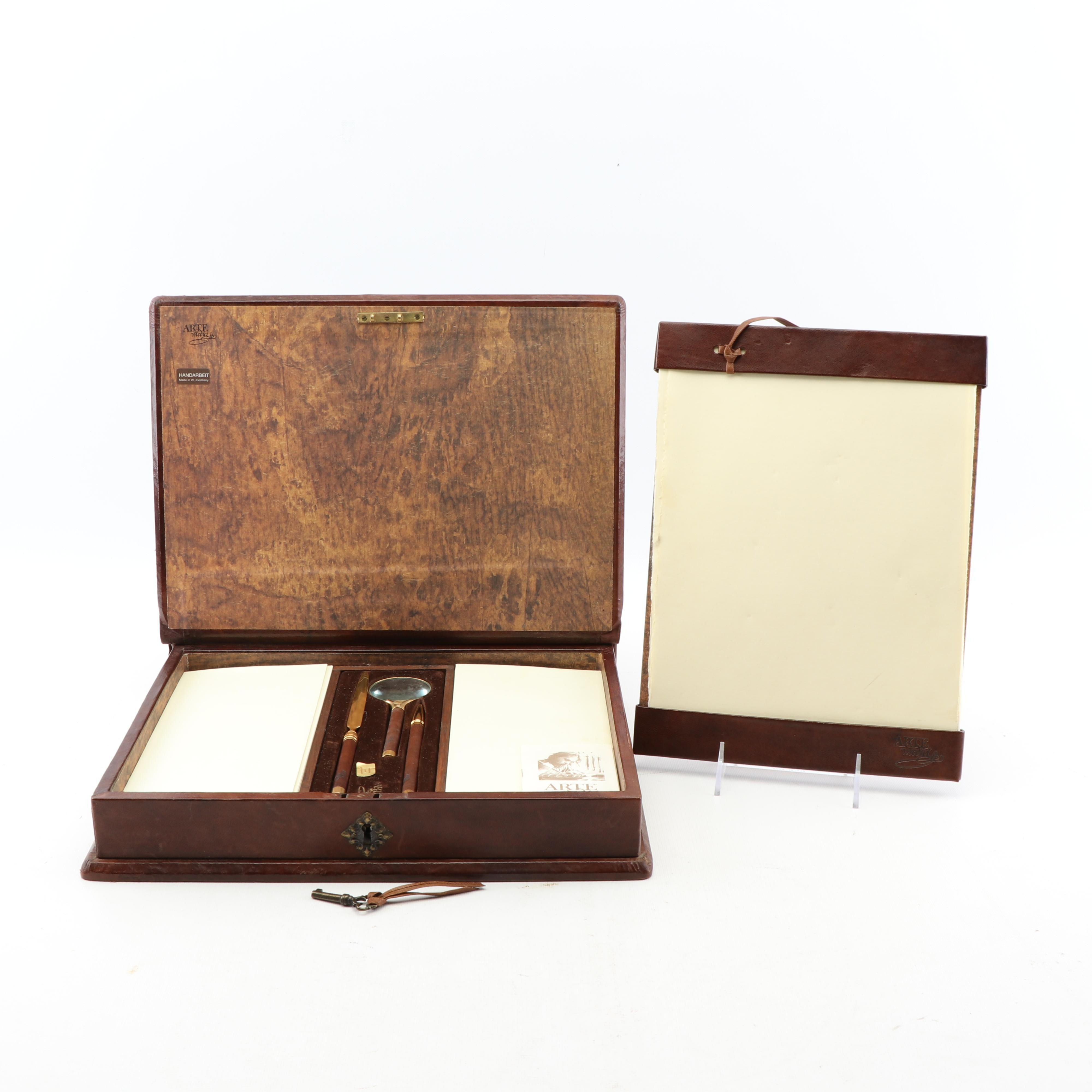 Arte Medici Stationery Set in Book Form Storage Box