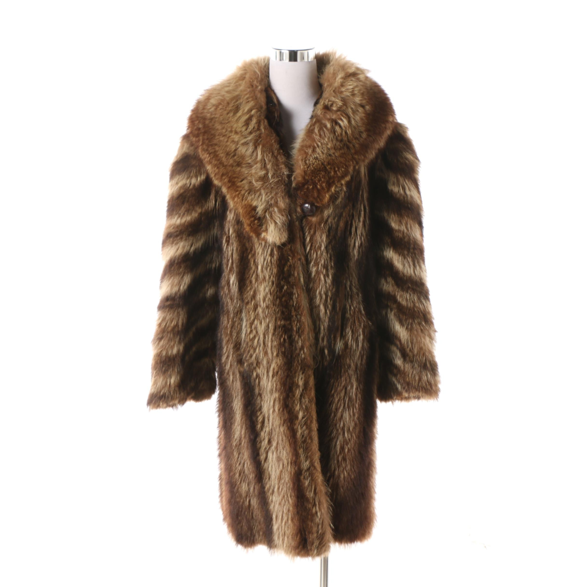 Women's Vintage Nelson Furs Raccoon Fur Coat