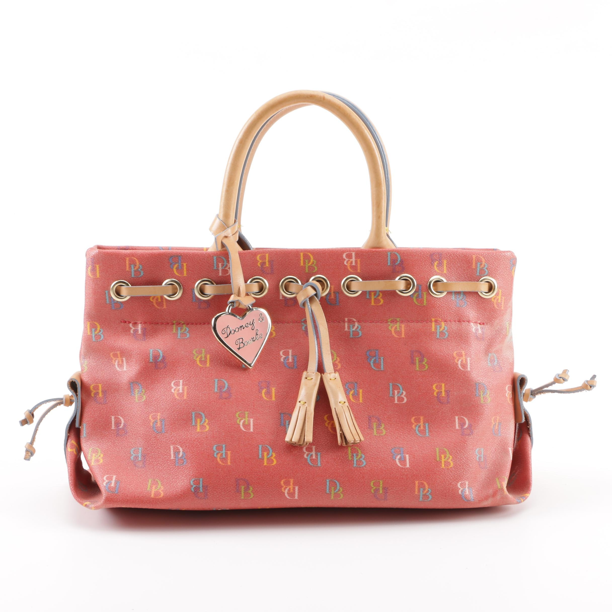 Dooney & Bourke Signature Multicolored Coated Canvas Handbag