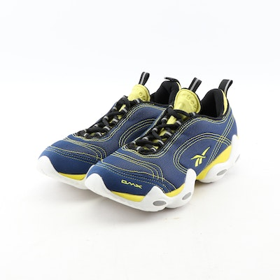 9770fbec9 Men's Reebok Blue and Yellow Fusion DMX Lite Athletic Shoes